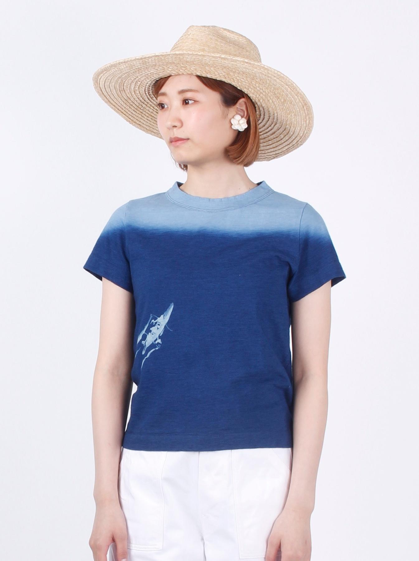 WH Indigo Ukiyo-e Kayak 45 Star T-shirt (Womens)-3
