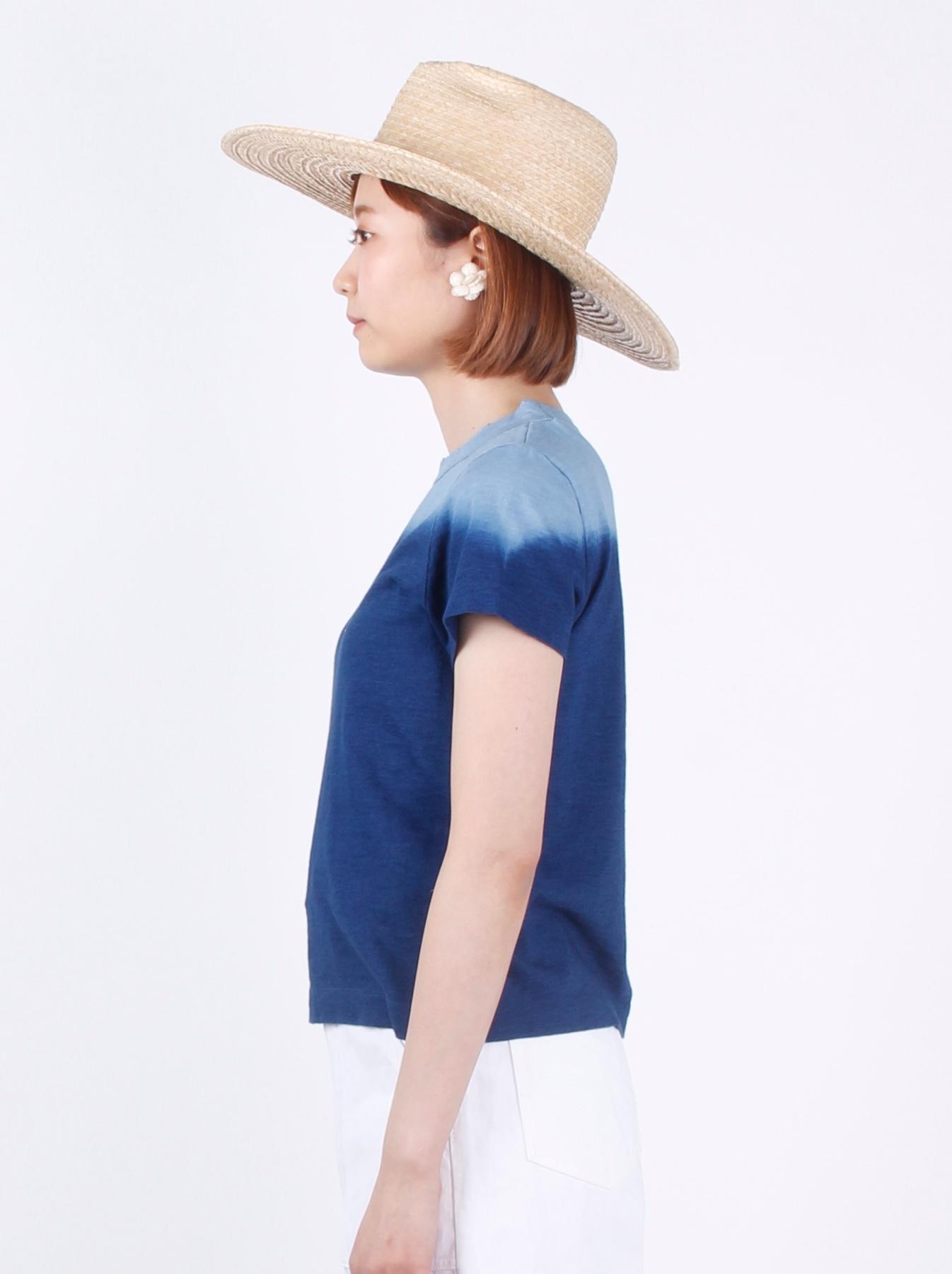 WH Indigo Ukiyo-e Kayak 45 Star T-shirt (Womens)-4