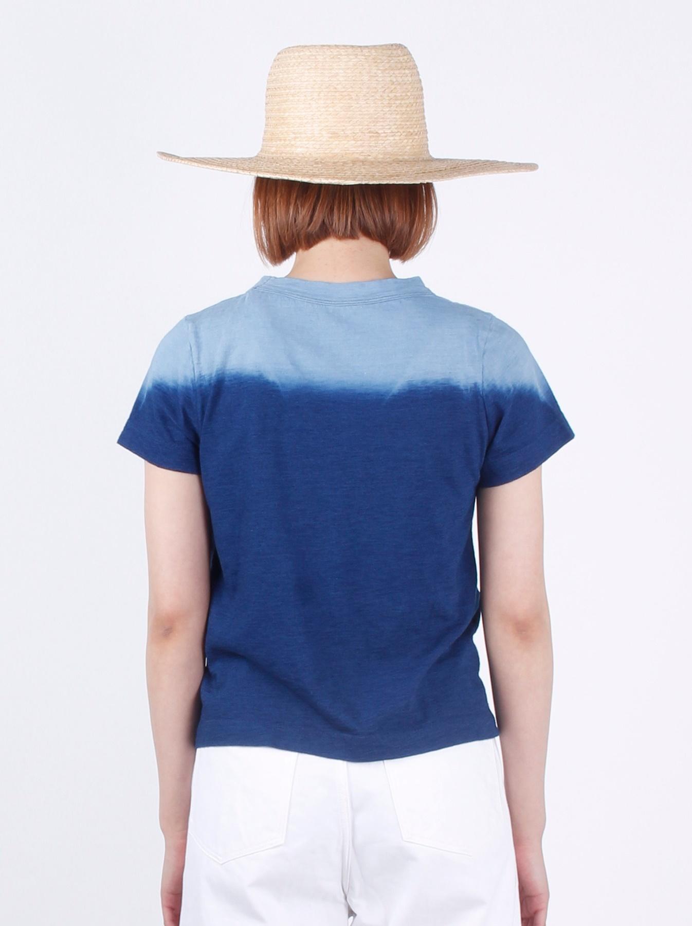 WH Indigo Ukiyo-e Kayak 45 Star T-shirt (Womens)-5