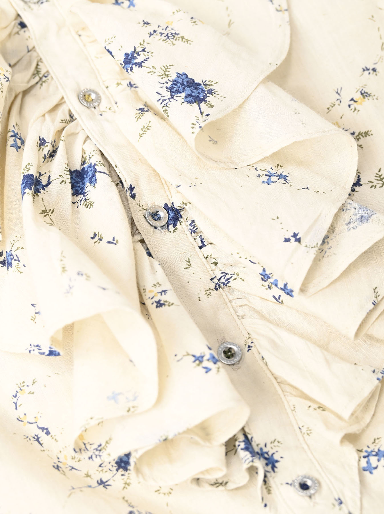 Khadi Frill Printed Shirt (0321)-8