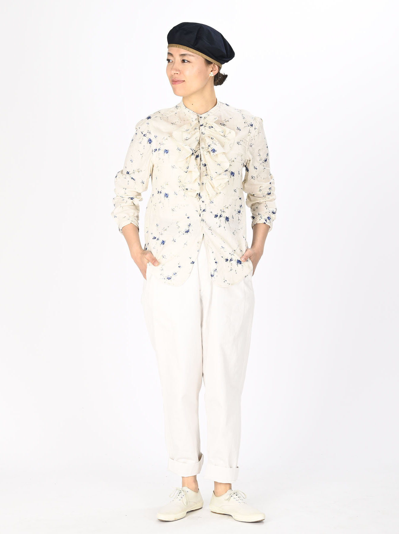 Khadi Frill Printed Shirt (0321)-2