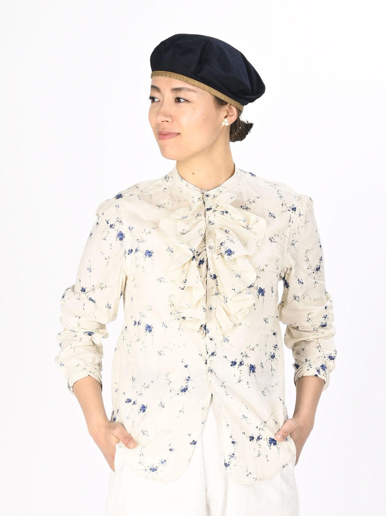 Khadi Frill Printed Shirt (0321)-3