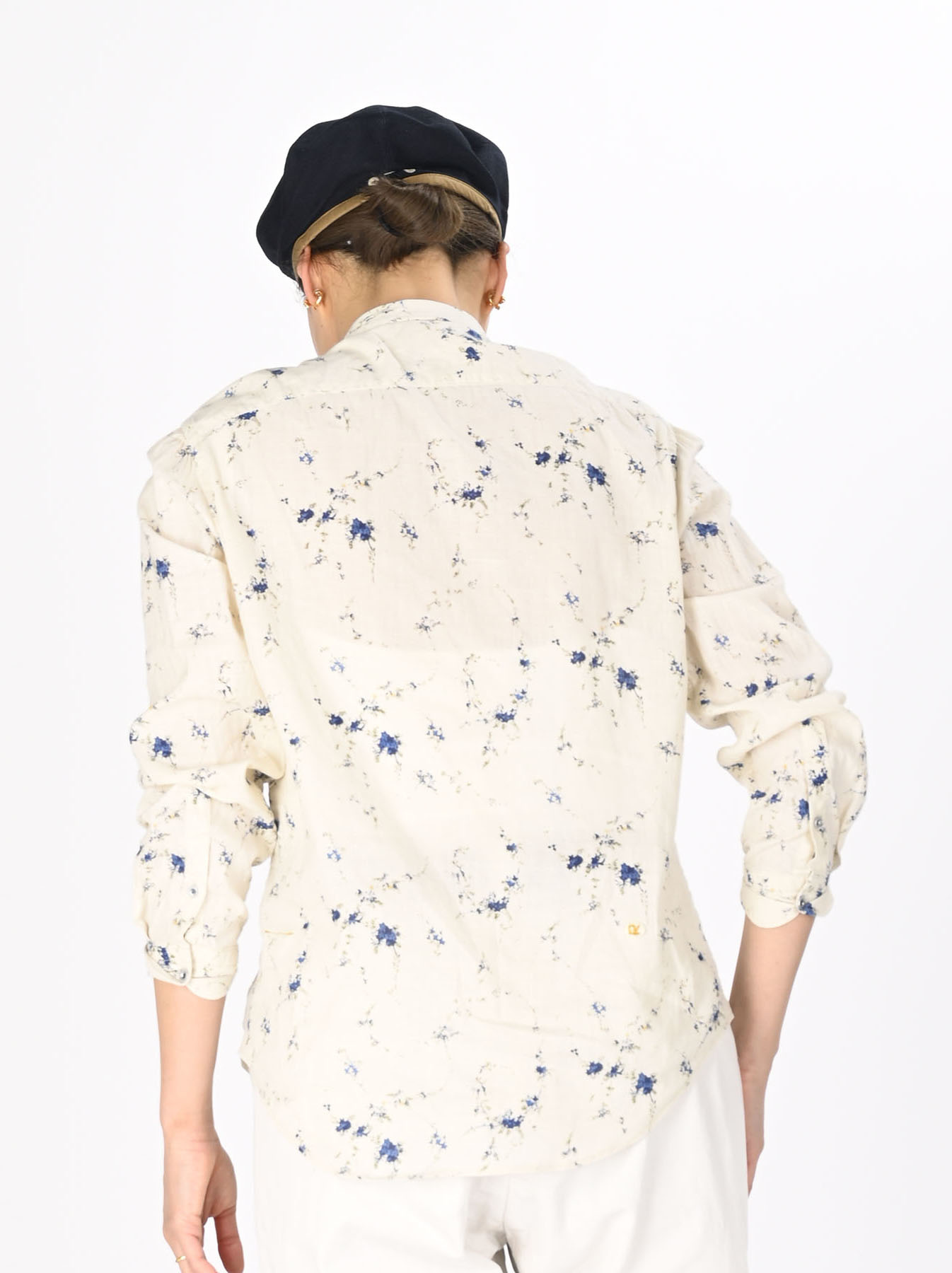 Khadi Frill Printed Shirt (0321)-5
