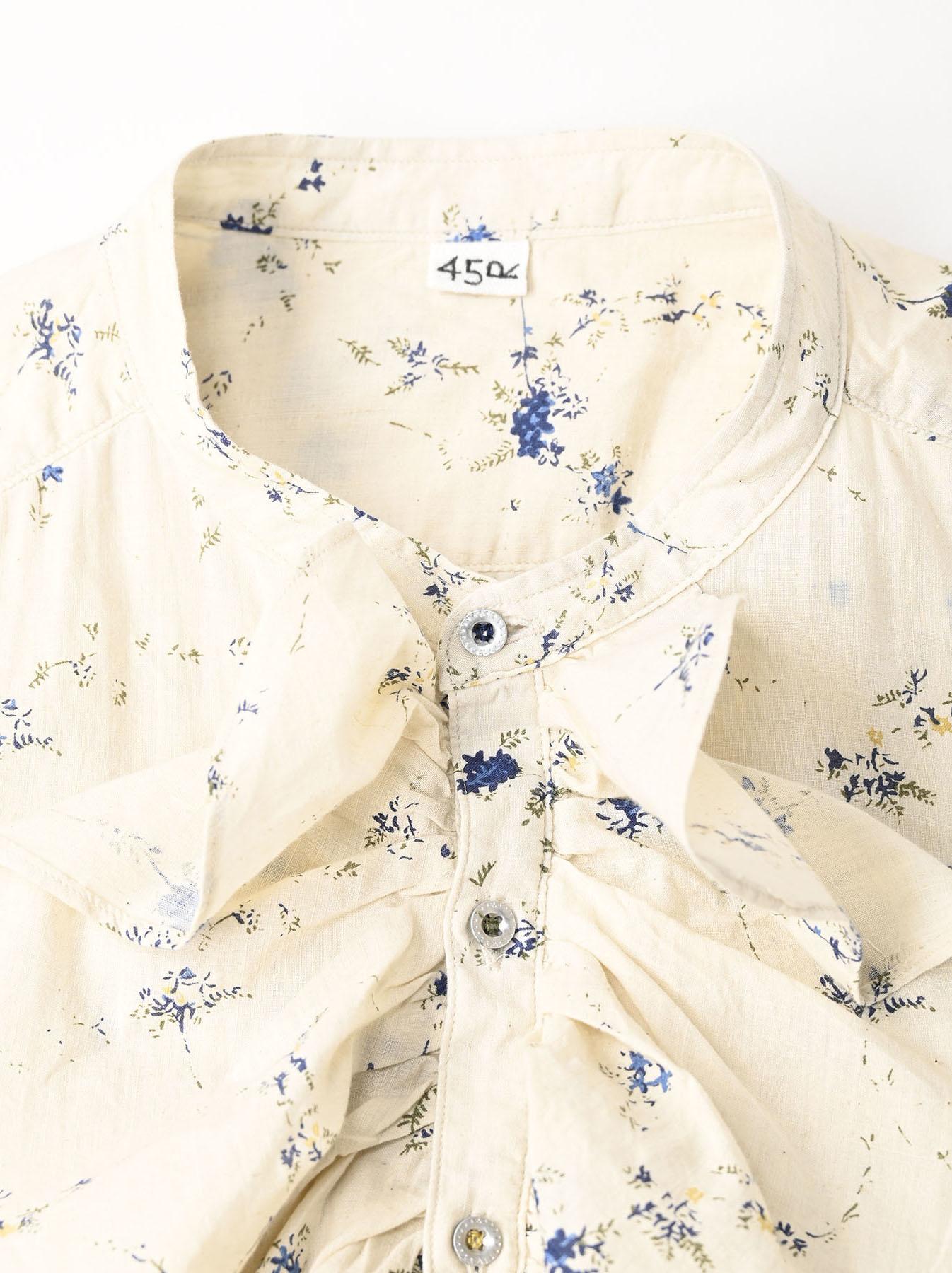 Khadi Frill Printed Shirt (0321)-7
