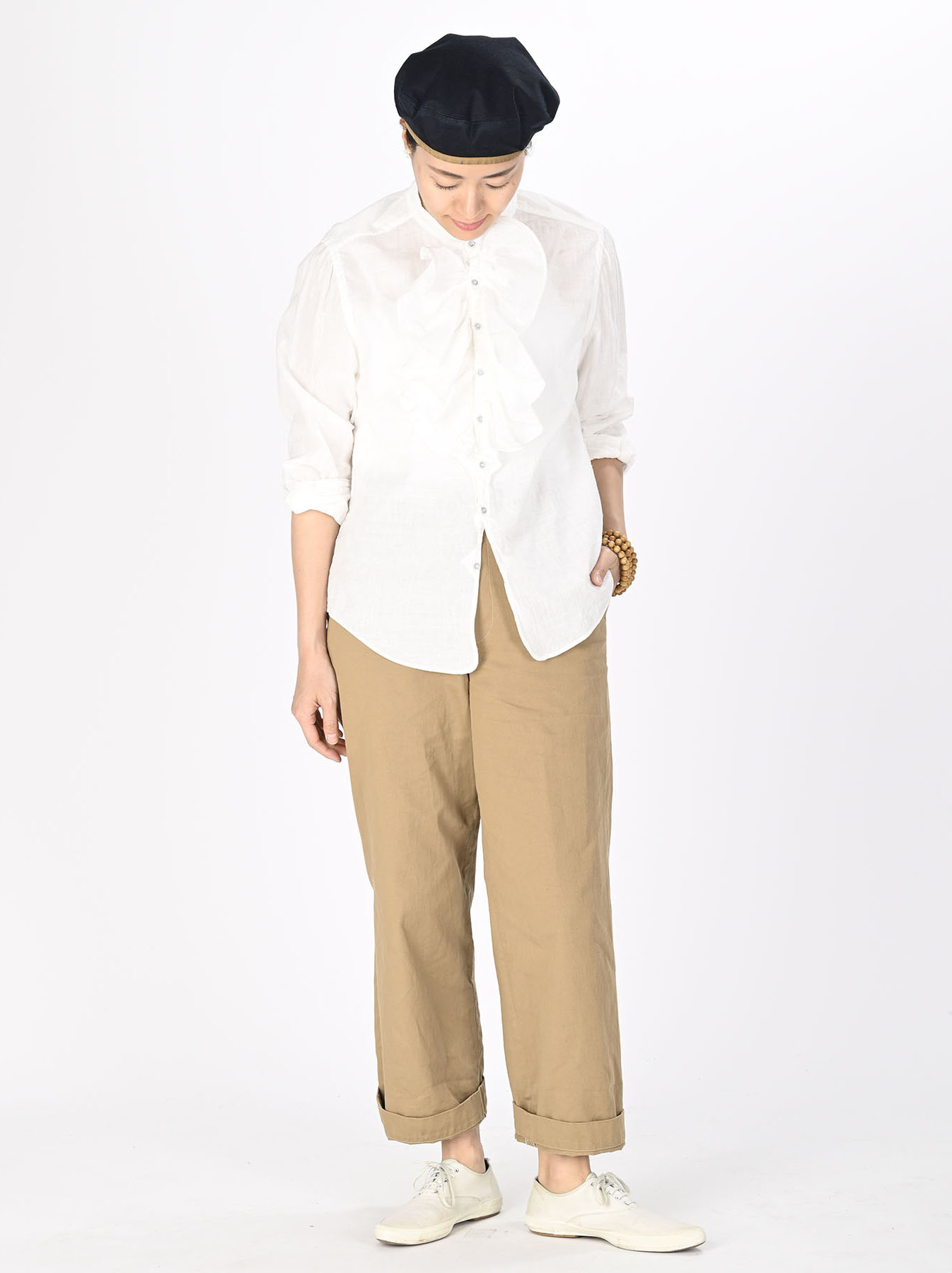 Khadi Frill Shirt (0321)-2