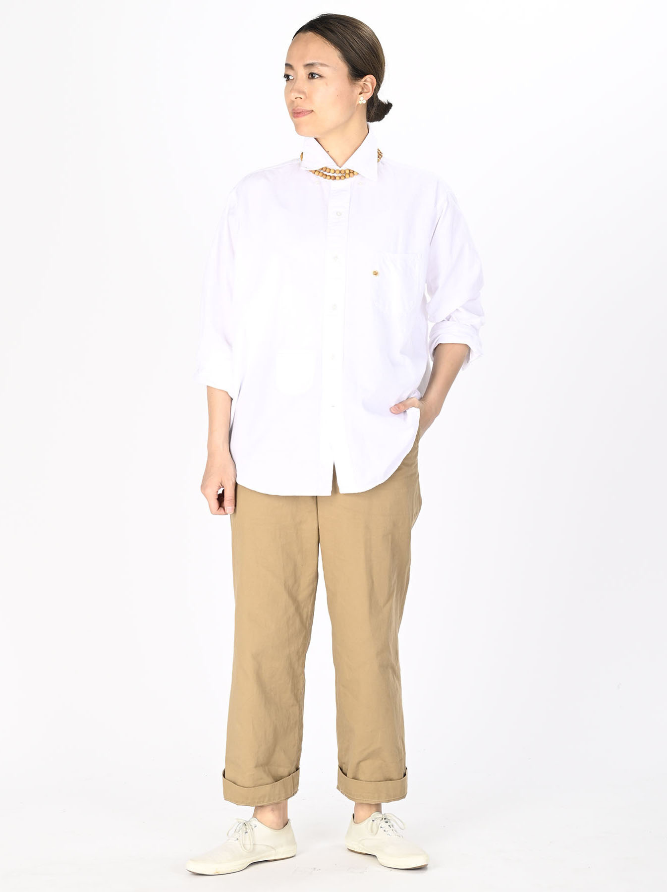 Indian Okome-hira 908 Ocean Button Down Shirt (0321)-6