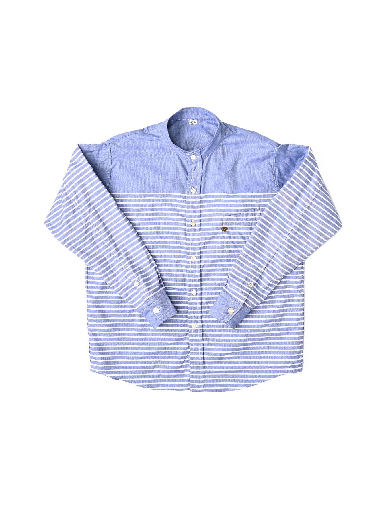 Oxford Stand Collar Ocean Basque Shirt (0321)-6
