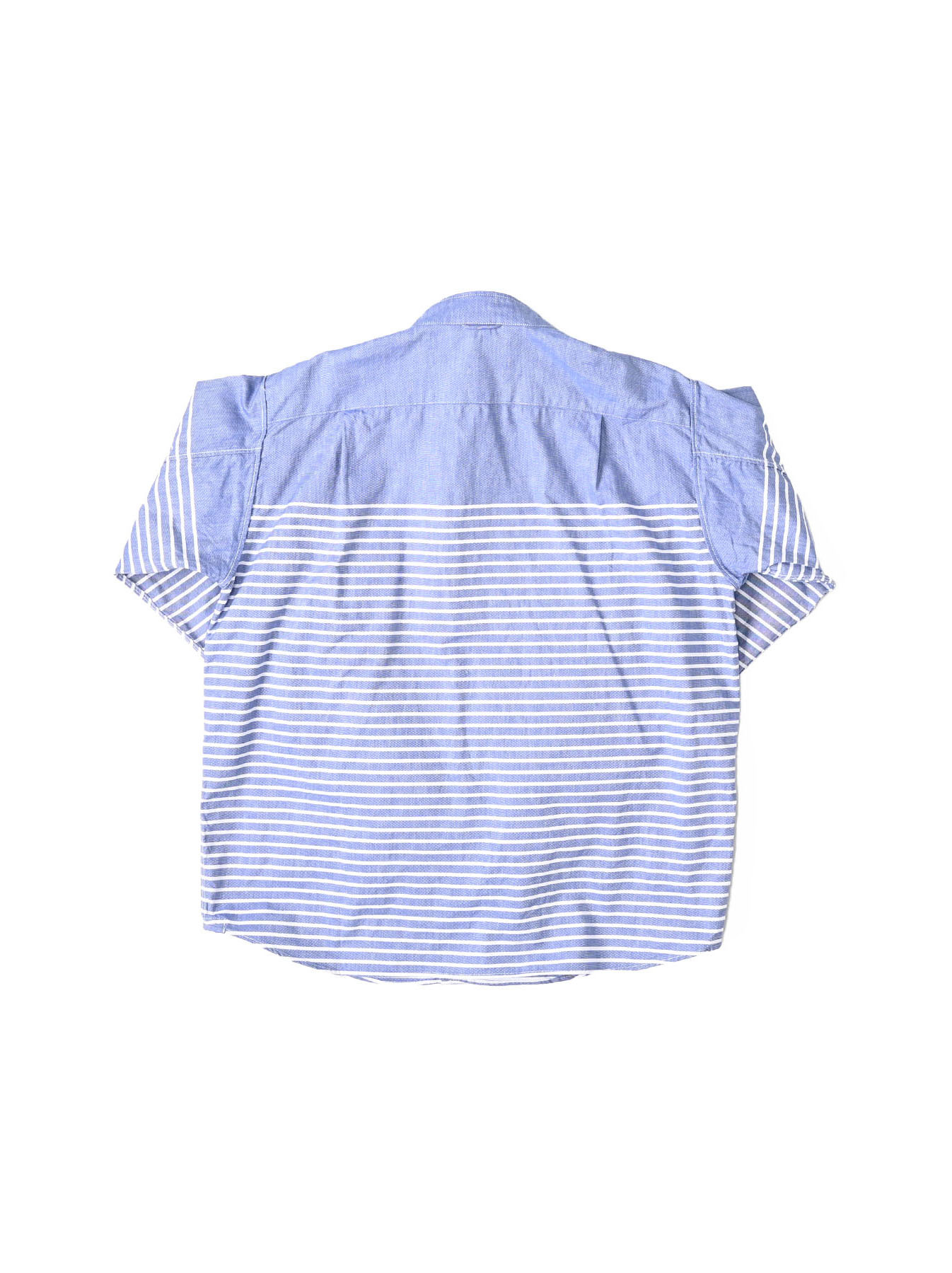 Oxford Stand Collar Ocean Basque Shirt (0321)-7