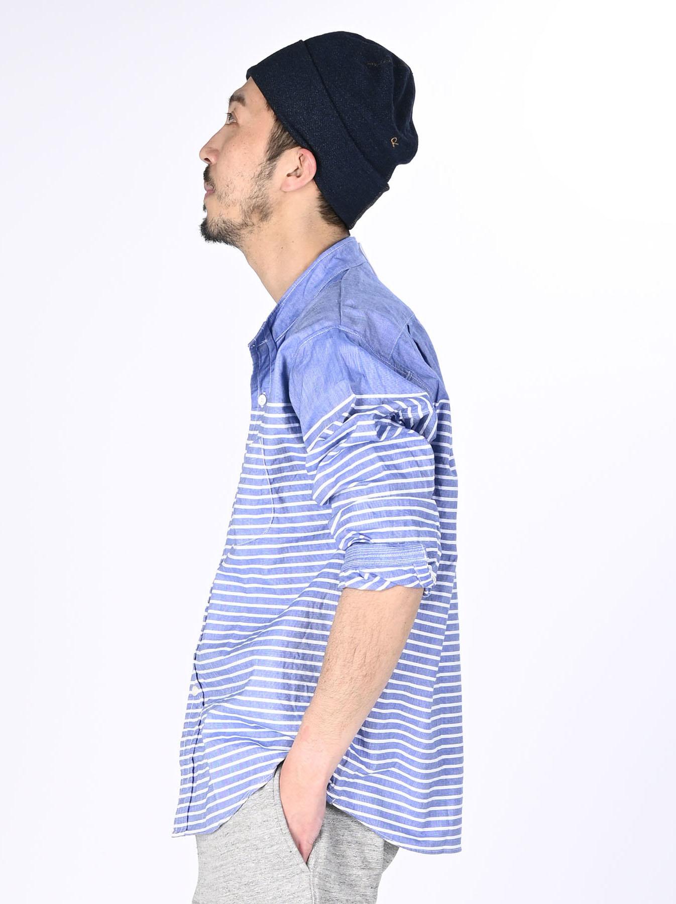 Oxford Stand Collar Ocean Basque Shirt (0321)-4