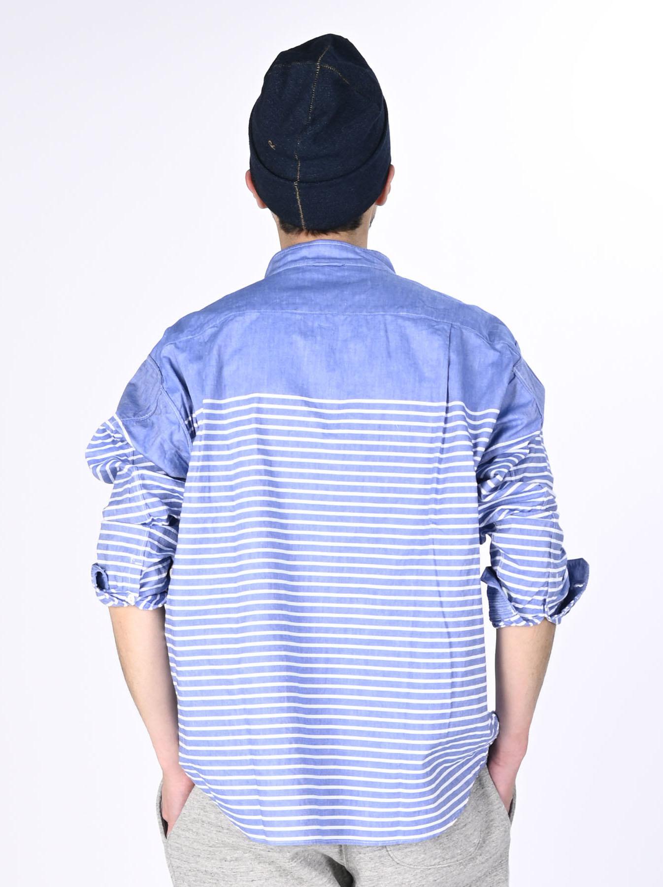 Oxford Stand Collar Ocean Basque Shirt (0321)-5