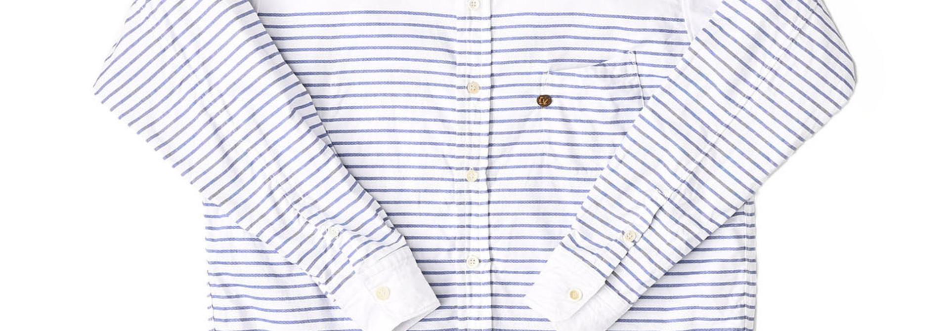 Oxford Stand Collar Ocean Basque Shirt (0321)