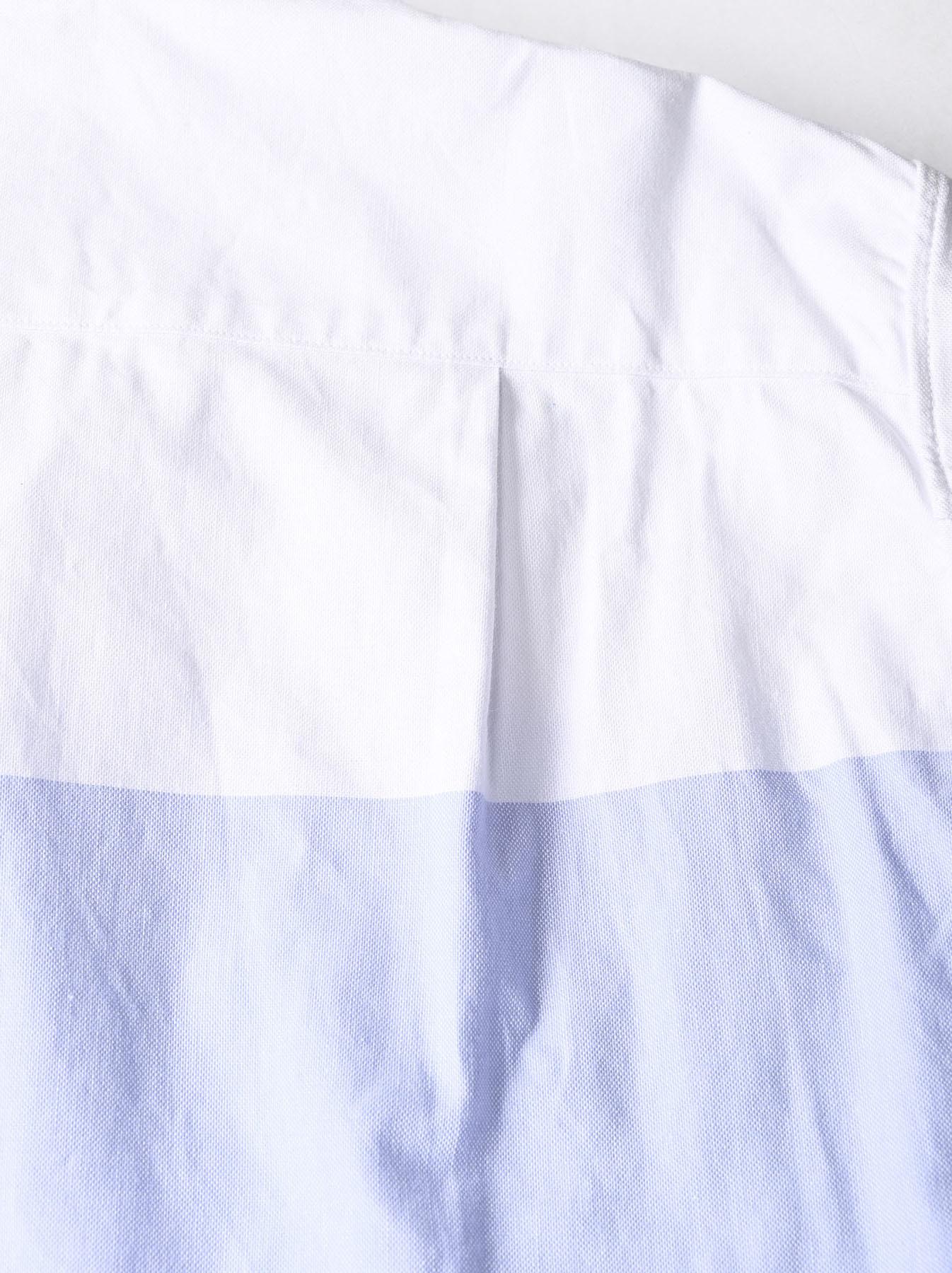 Oxford Stand Collar Ocean Basque Shirt (0321)-8