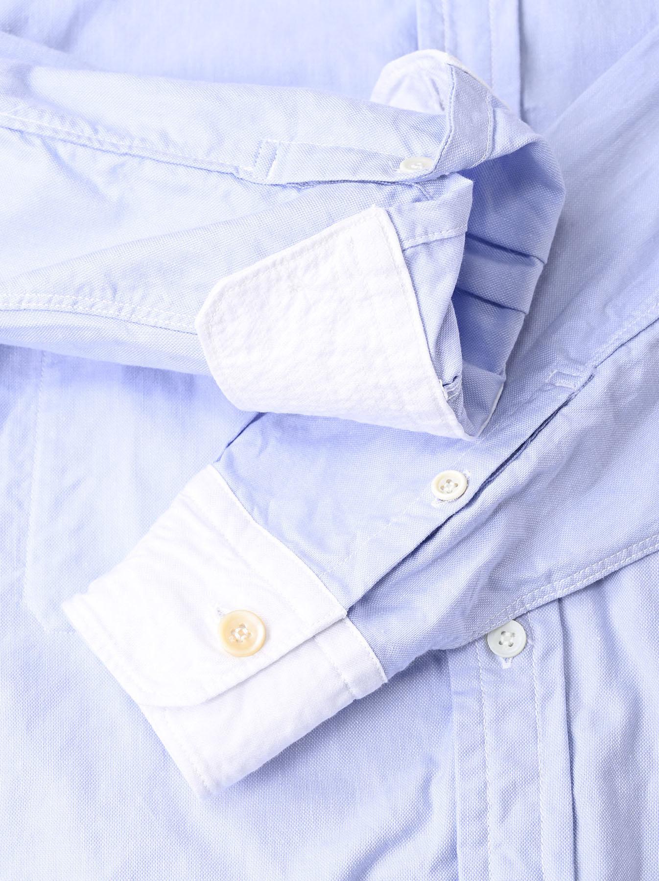 Oxford Stand Collar Ocean Basque Shirt (0321)-10