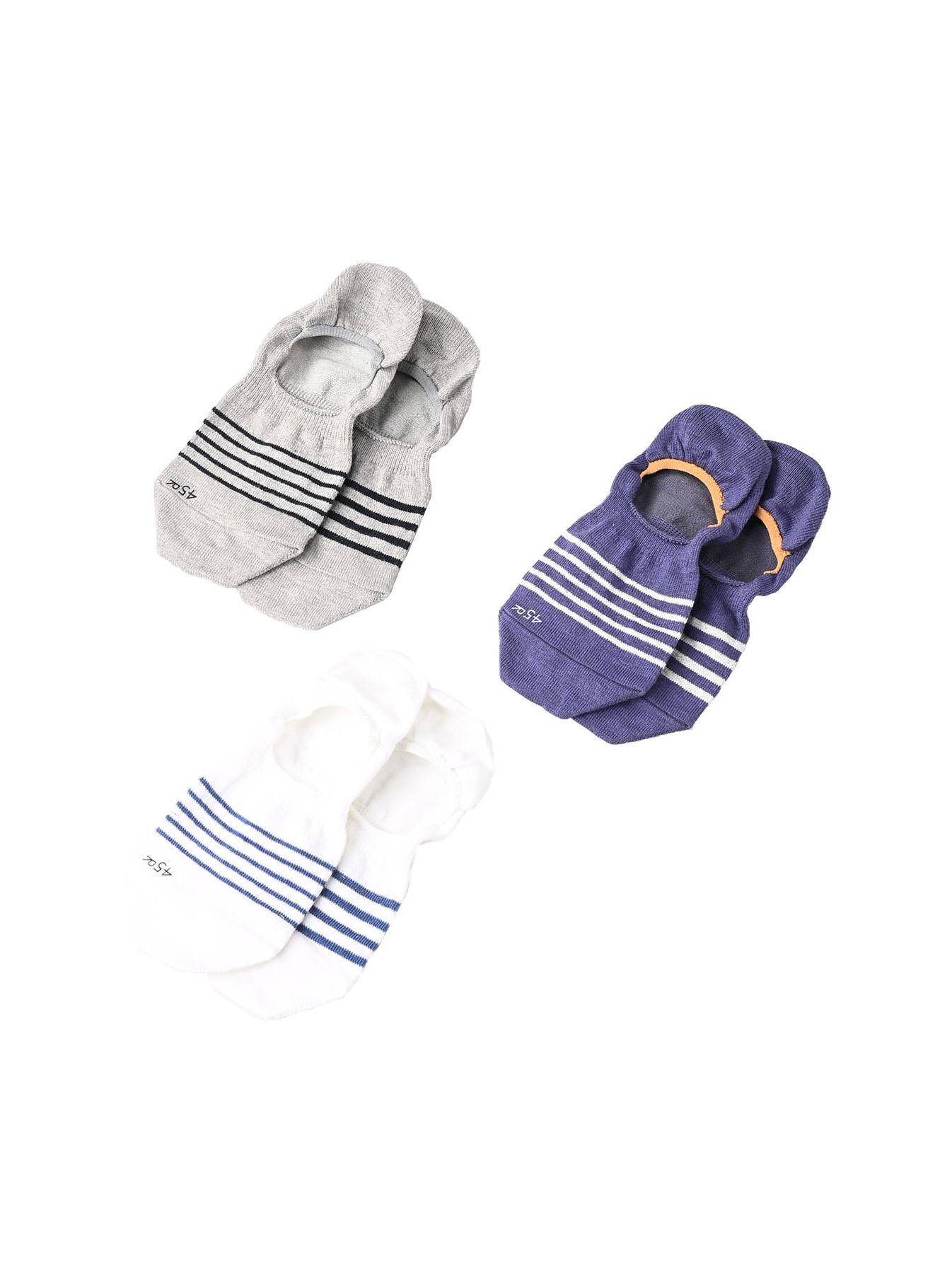 Basque Border Sole Socks (0321)-2