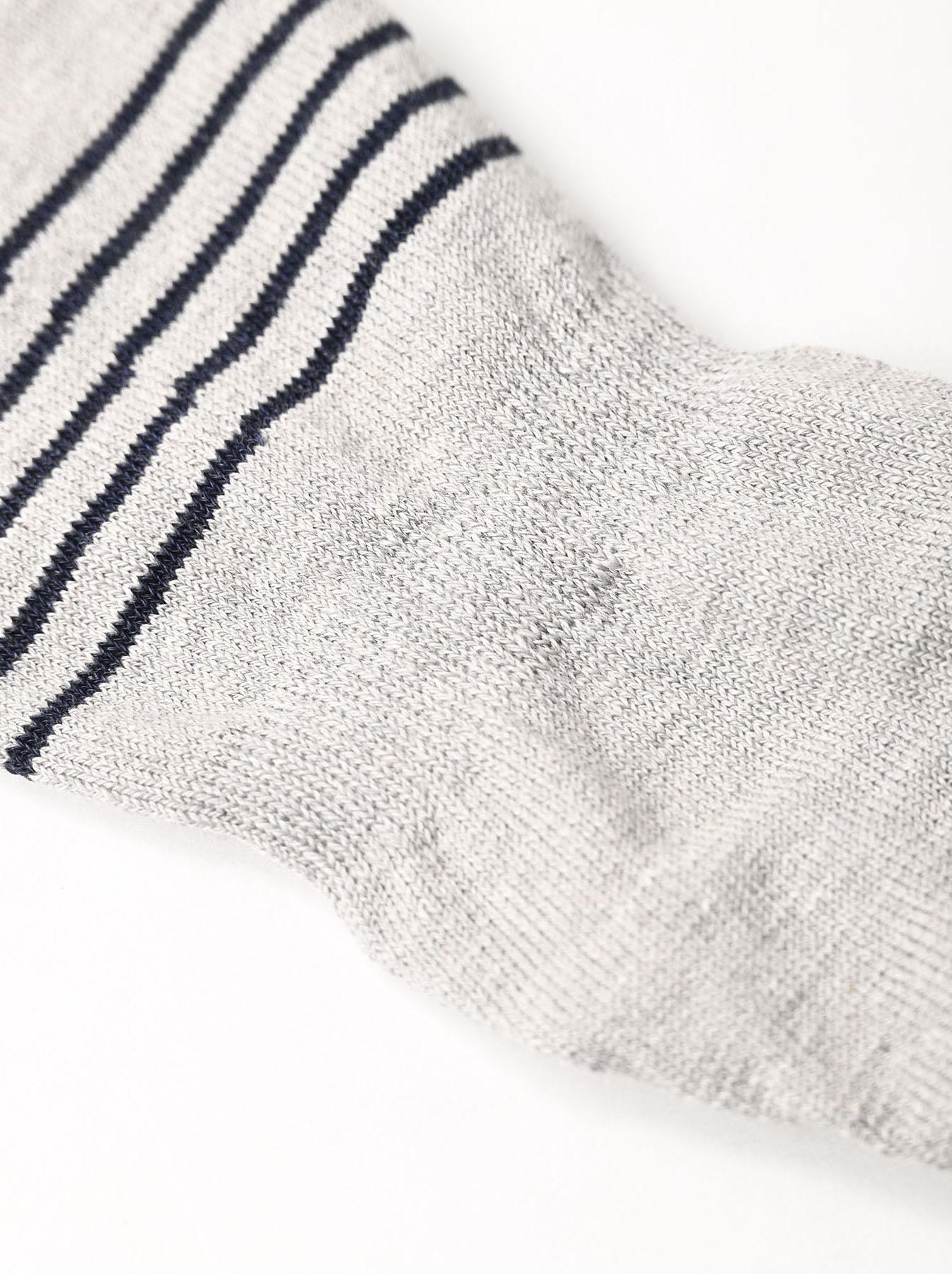 Basque Border Sole Socks (0321)-9