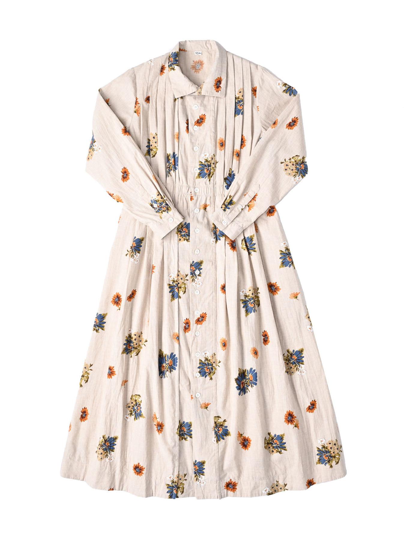 Margaret Print Dress (0321)-1