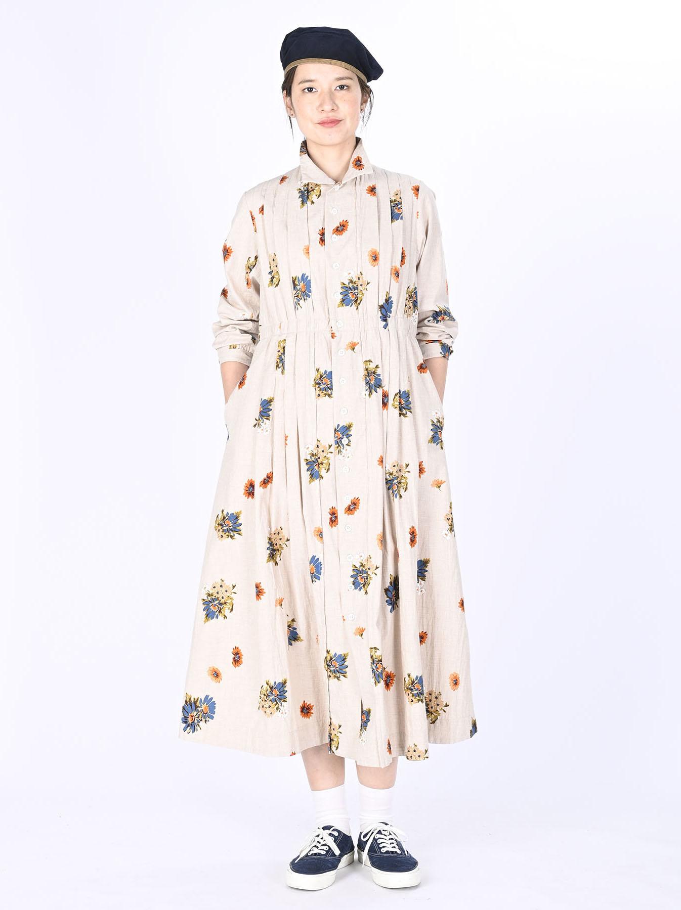 Margaret Print Dress (0321)-2