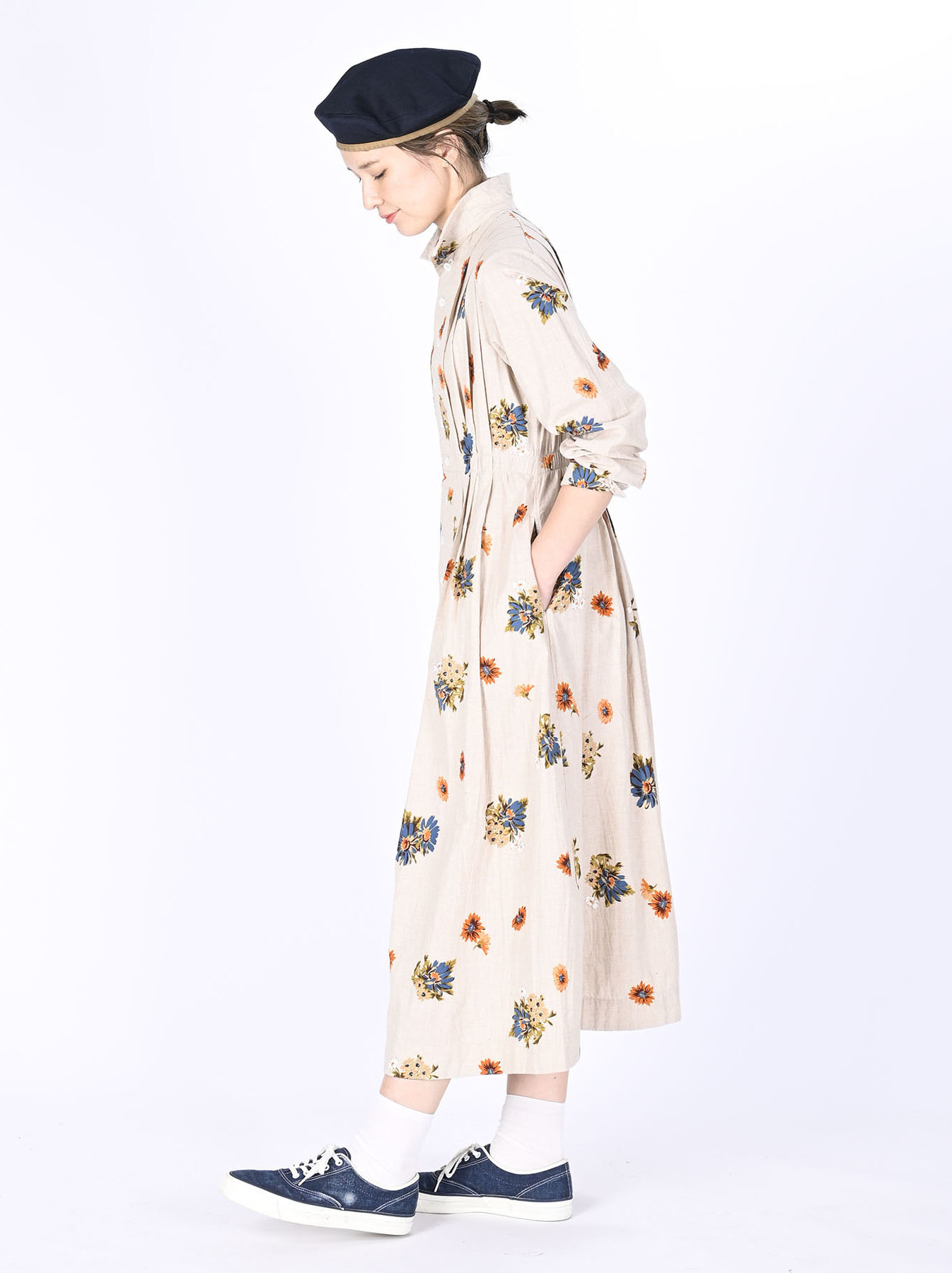 Margaret Print Dress (0321)-3