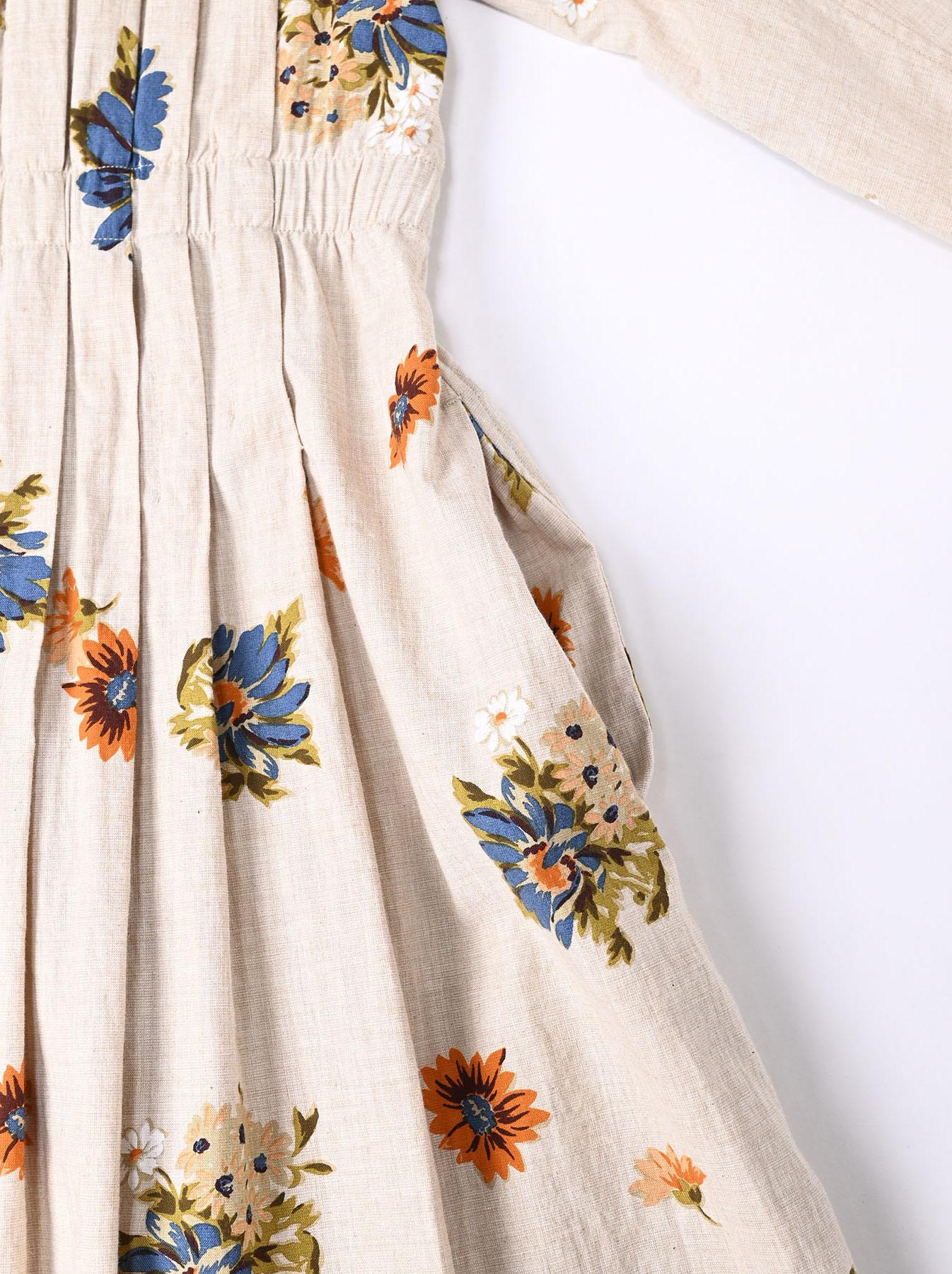 Margaret Print Dress (0321)-10