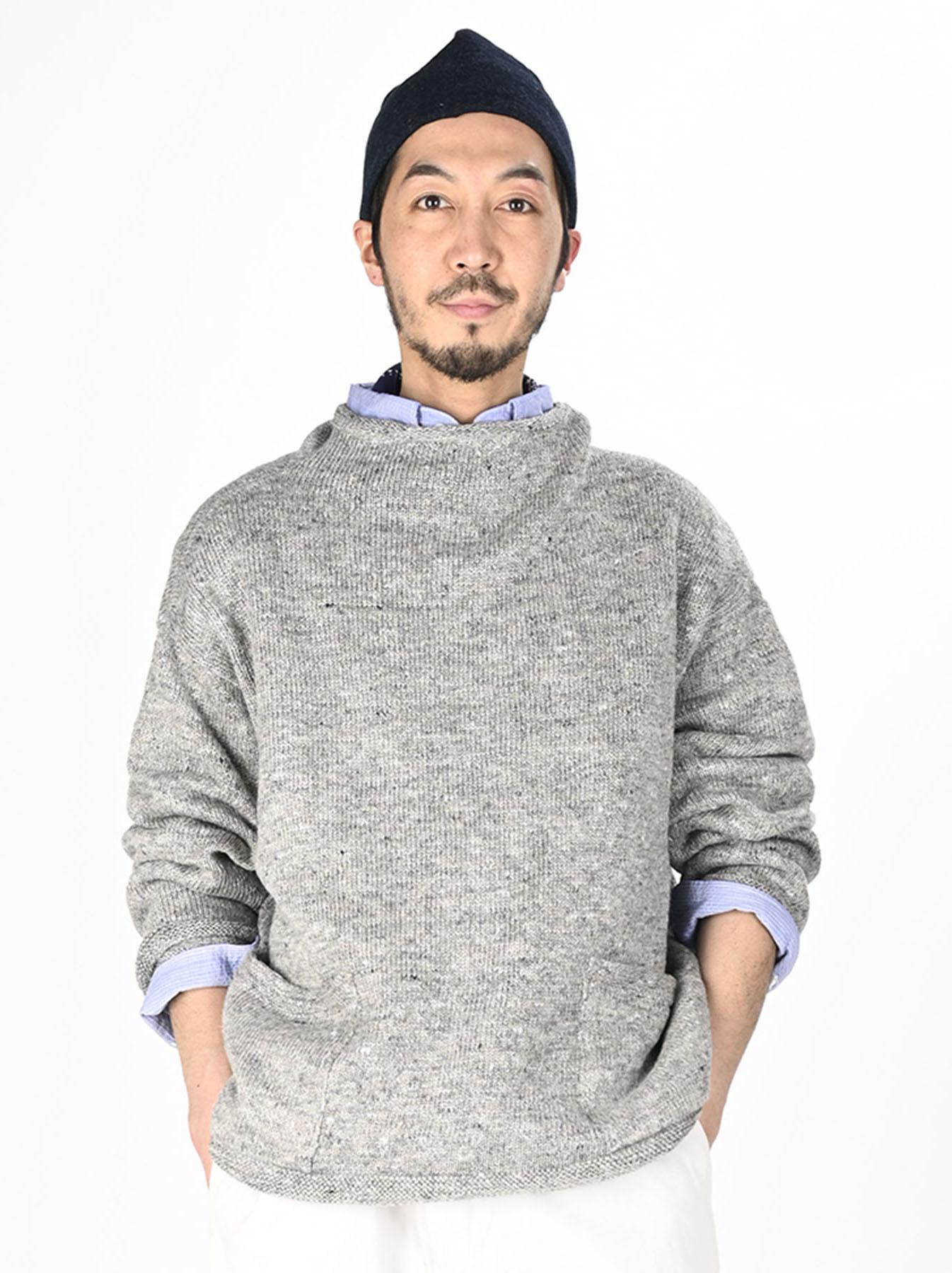 WH Linen Tweed Knit-sew 908 Umahiko Sweater (0321)-3