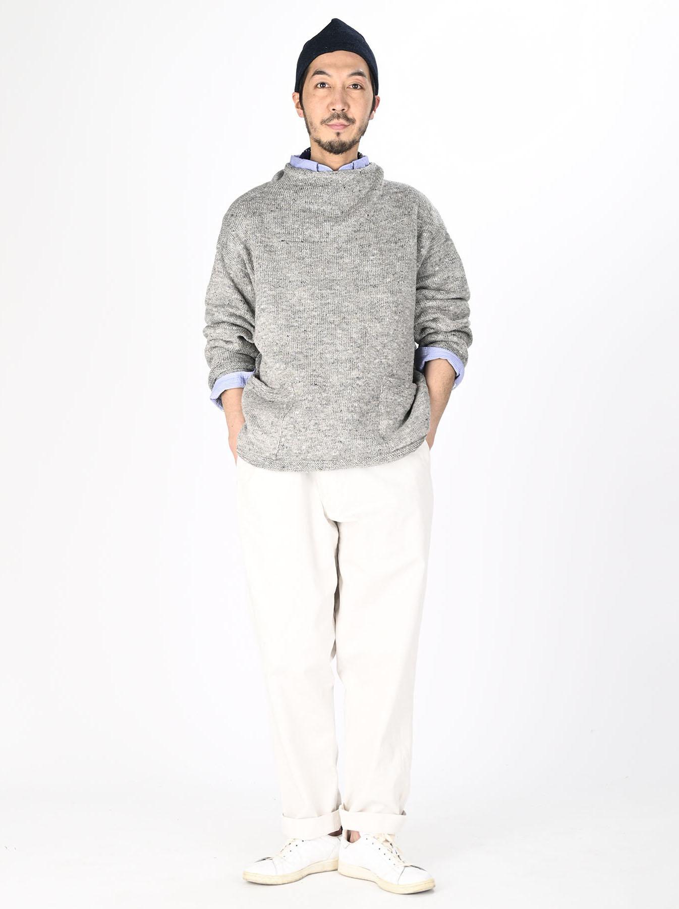 WH Linen Tweed Knit-sew 908 Umahiko Sweater (0321)-2