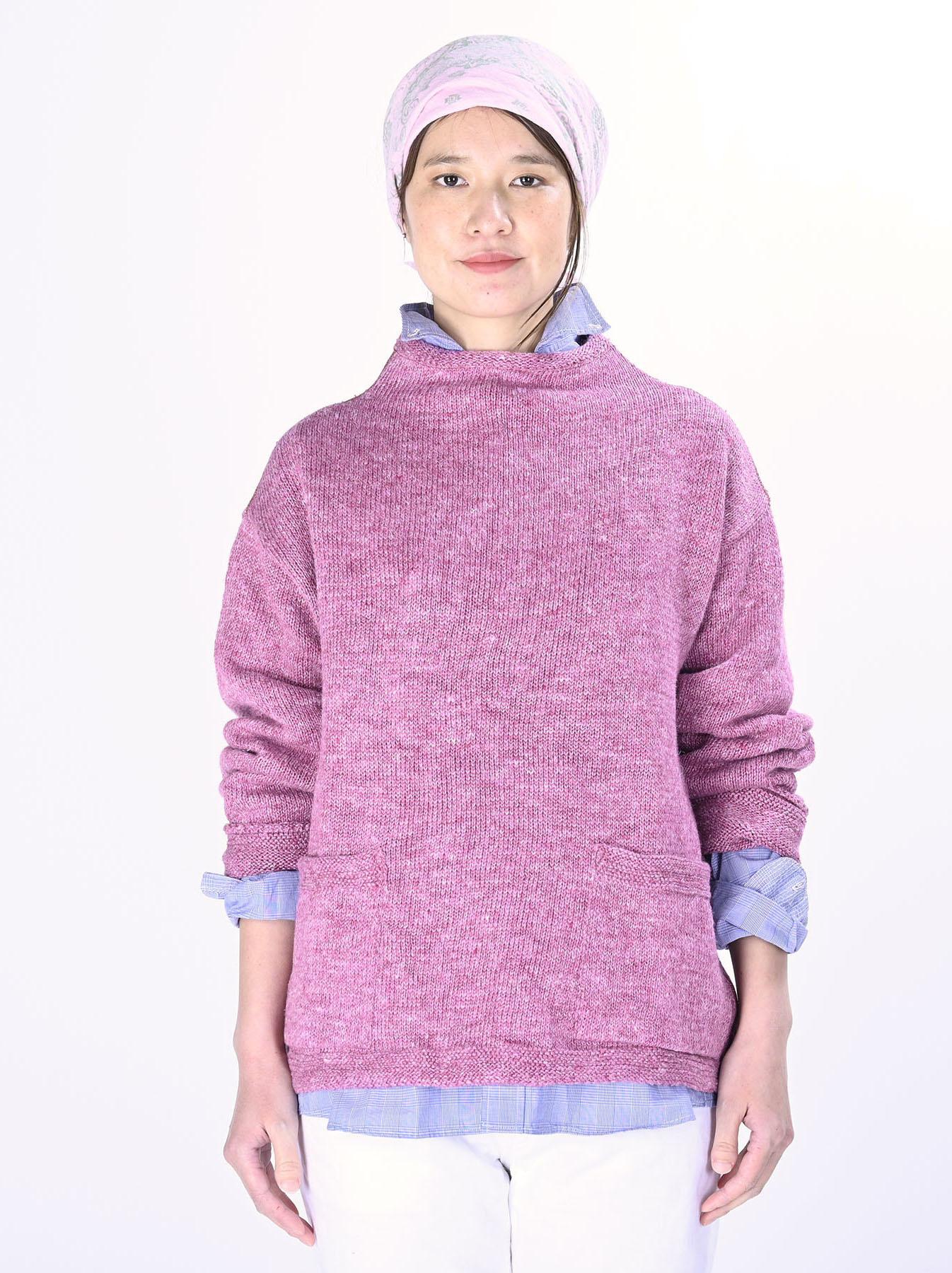 WH Linen Tweed Knit-sew 908 Umahiko Sweater (0321)-6