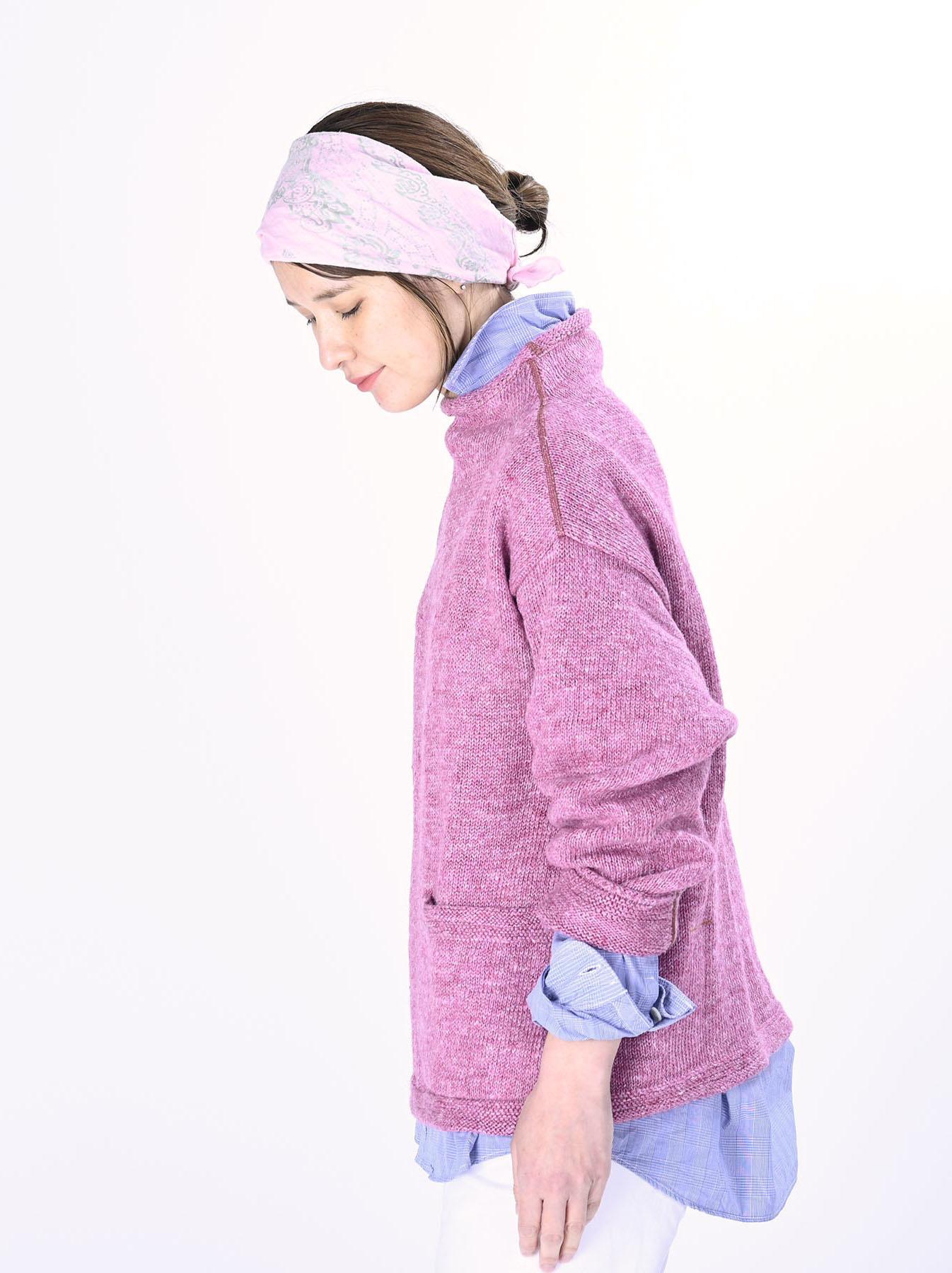 WH Linen Tweed Knit-sew 908 Umahiko Sweater (0321)-7
