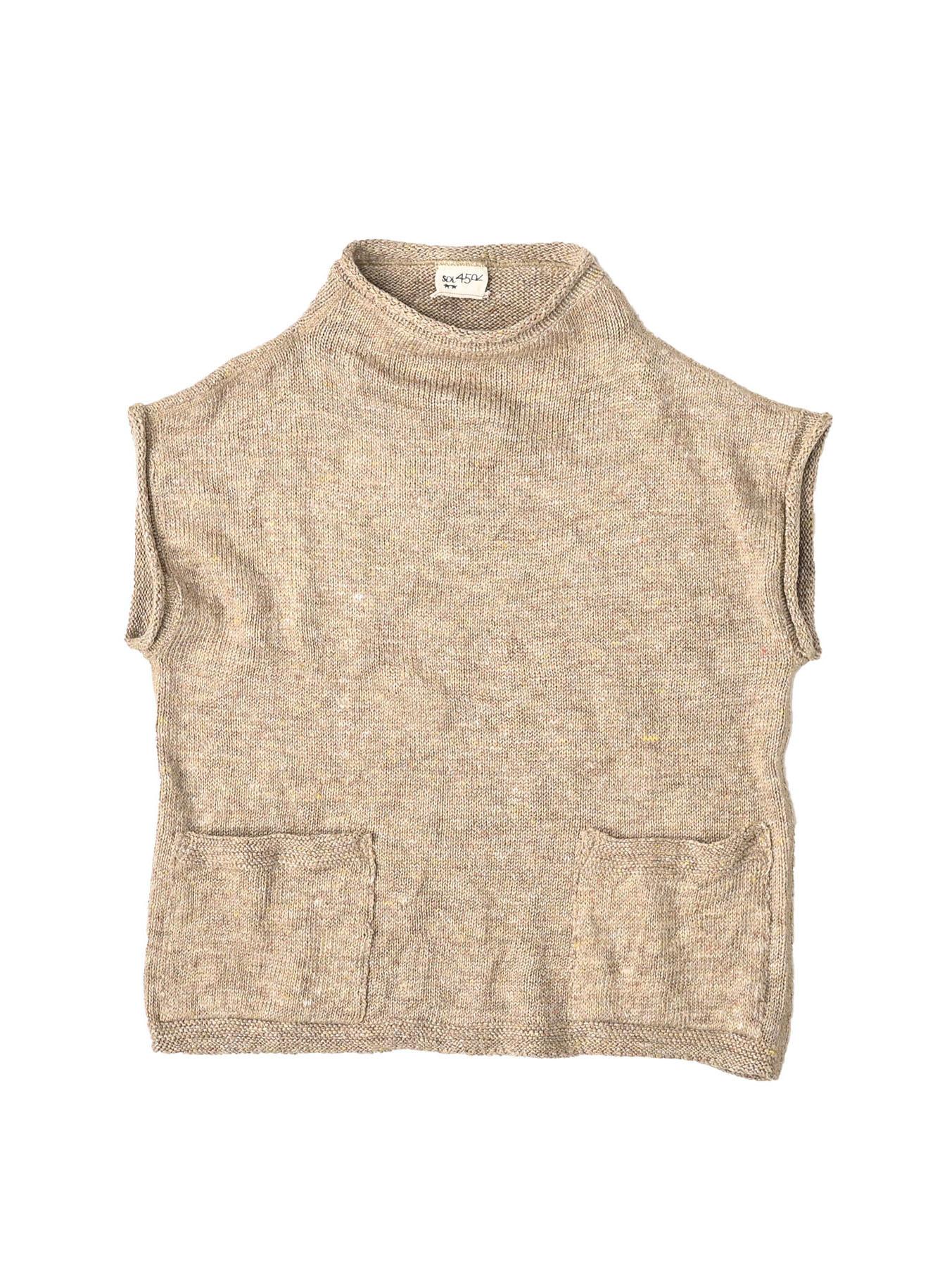 WH Linen Tweed Umahiko 908 Vest (0321)-6