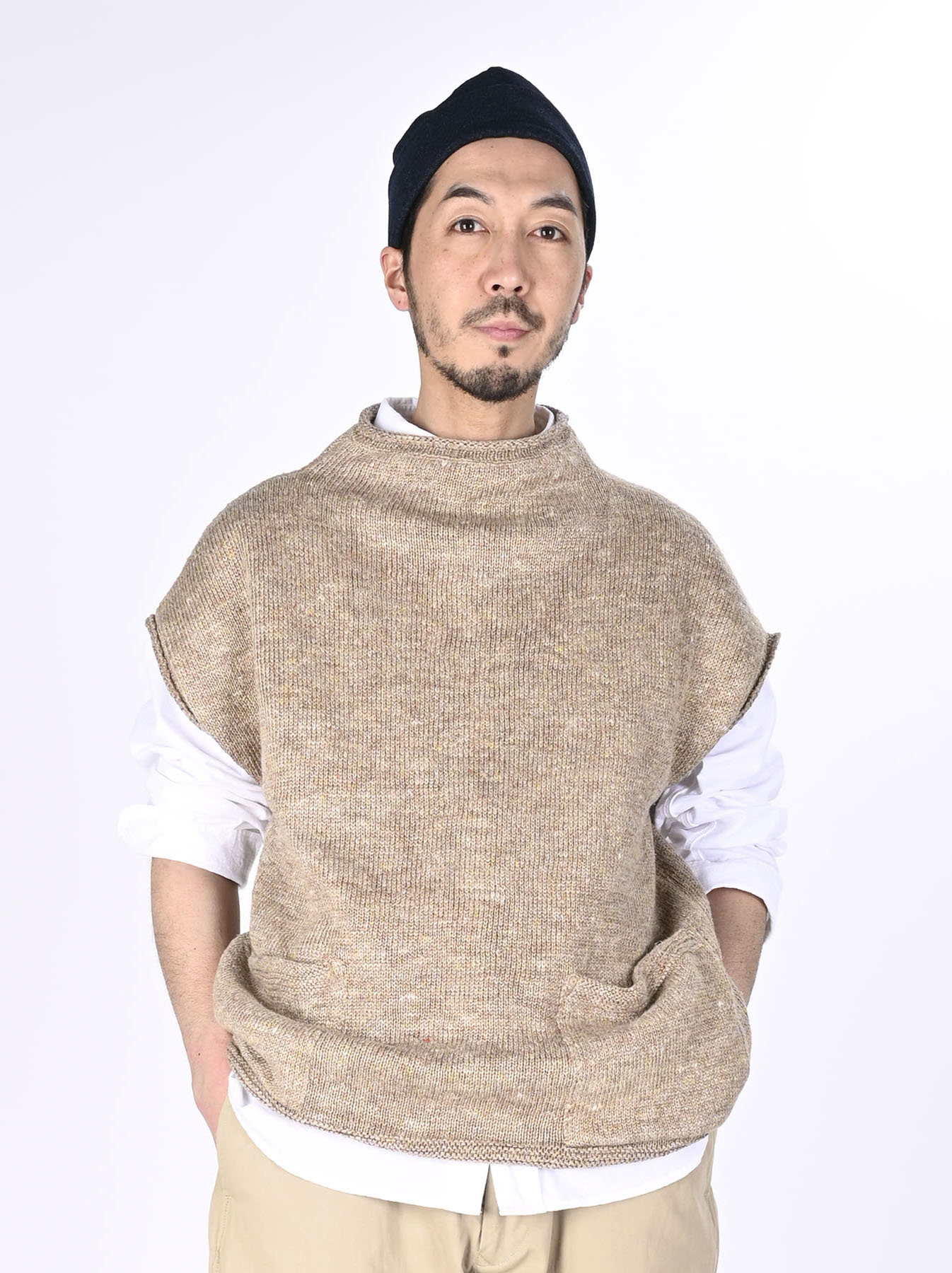 WH Linen Tweed Umahiko 908 Vest (0321)-3