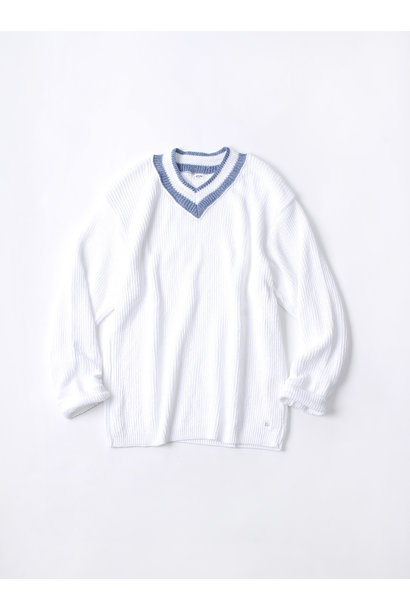 WH Zimbabwe Cotton Cable Knit Sweater
