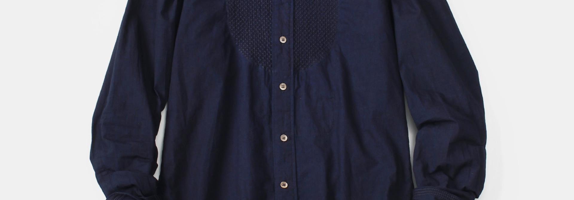 WH Indigo Sheet Cloth Sashiko Shirt