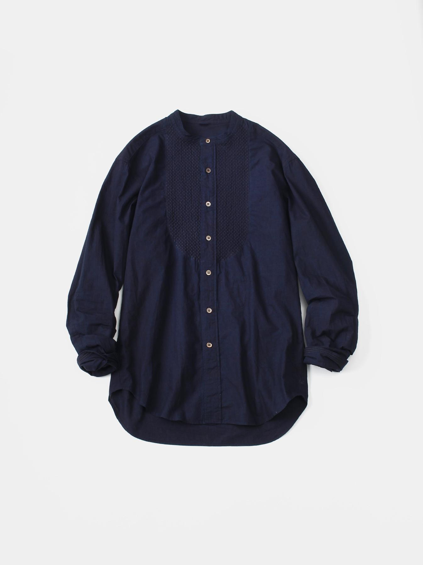 WH Indigo Sheet Cloth Sashiko Shirt-1
