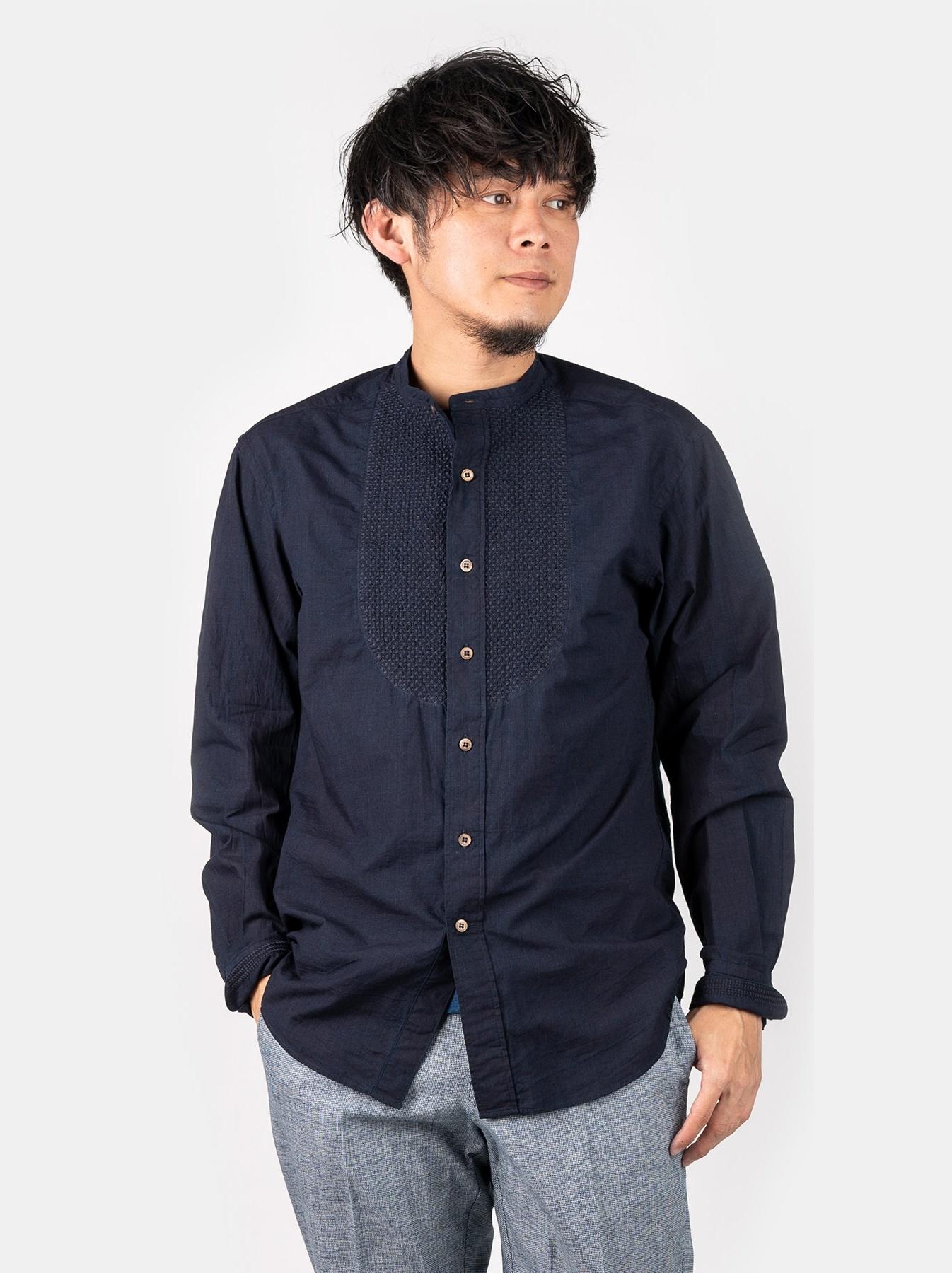 WH Indigo Sheet Cloth Sashiko Shirt-4