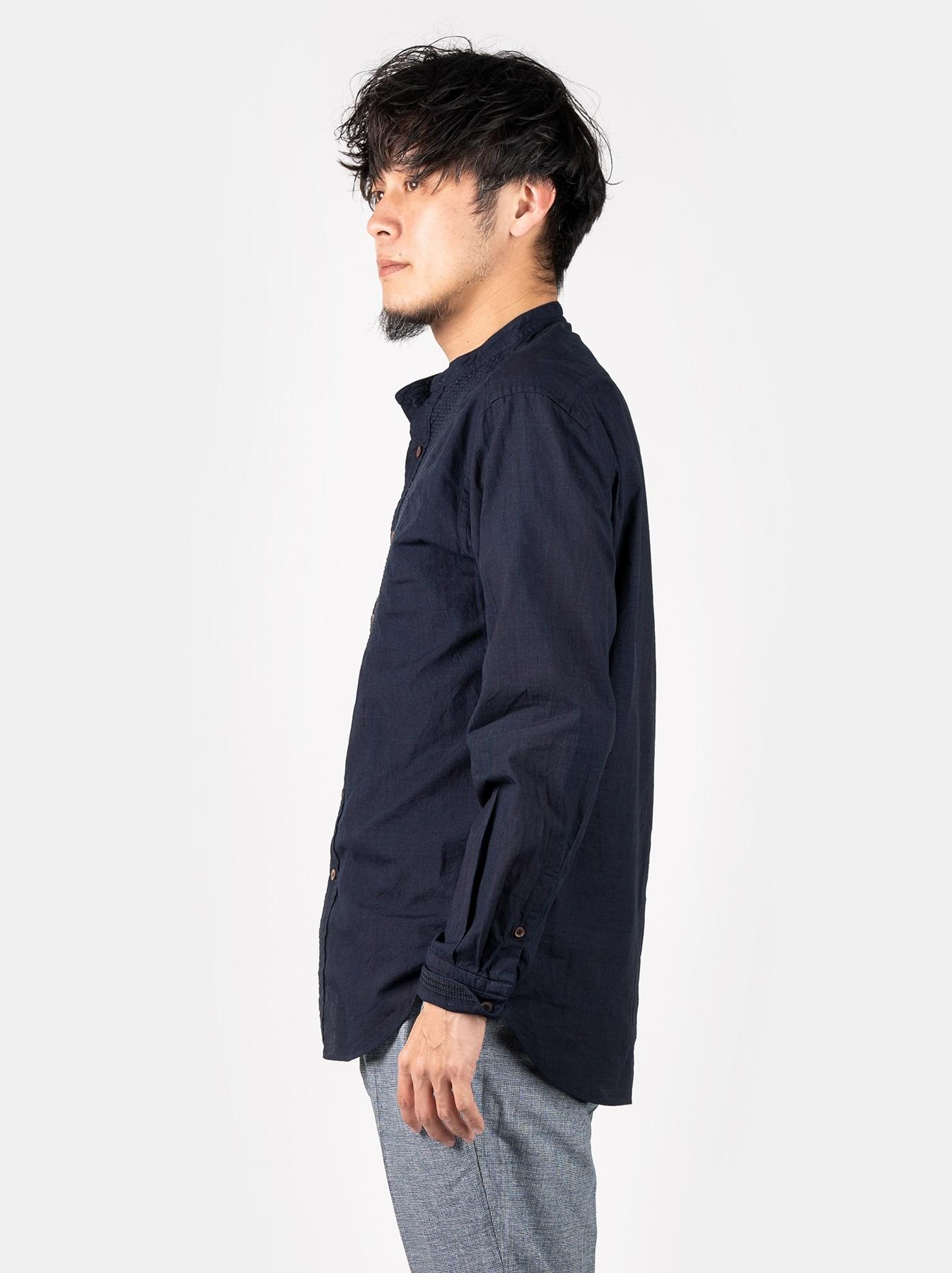 WH Indigo Sheet Cloth Sashiko Shirt-3
