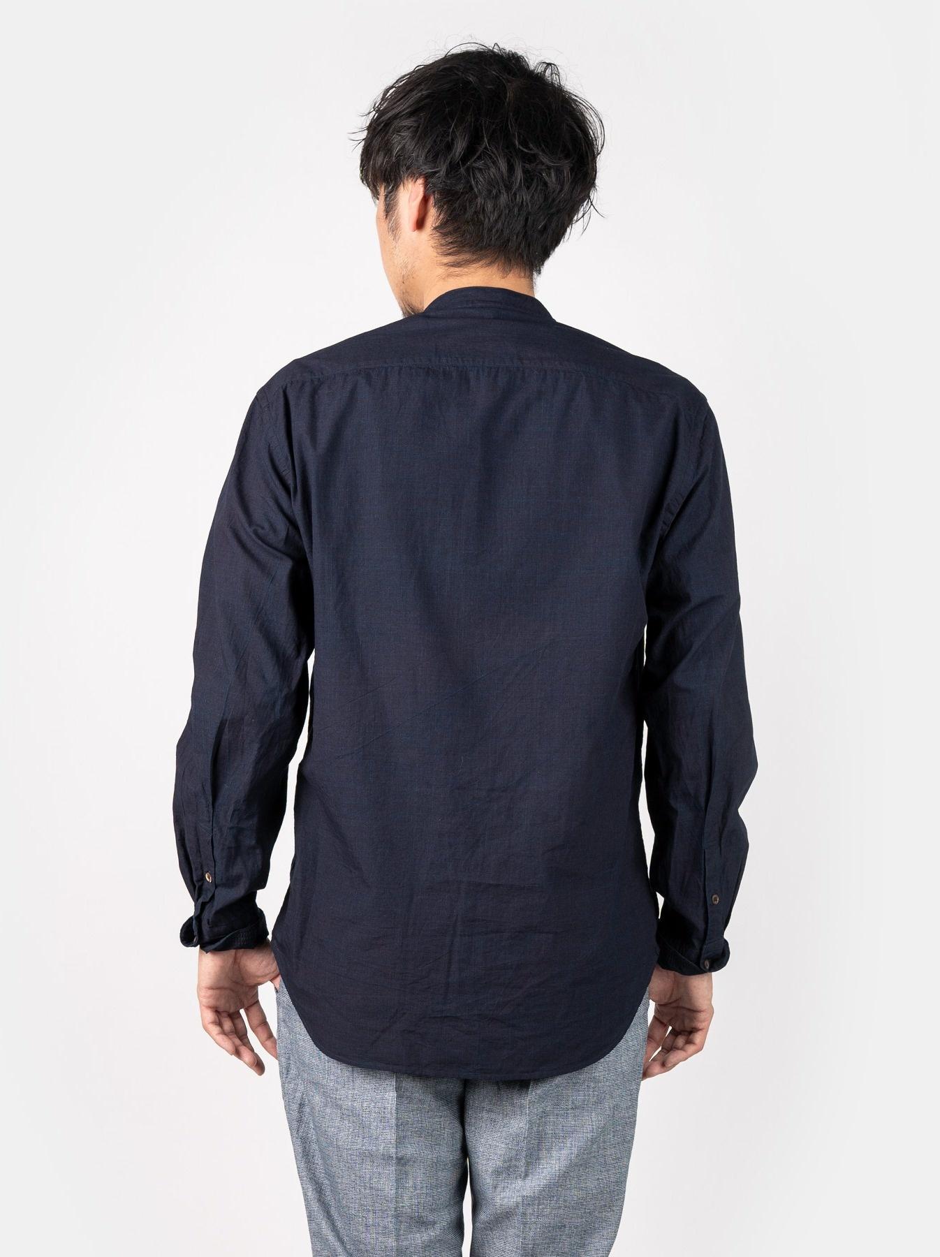 WH Indigo Sheet Cloth Sashiko Shirt-5