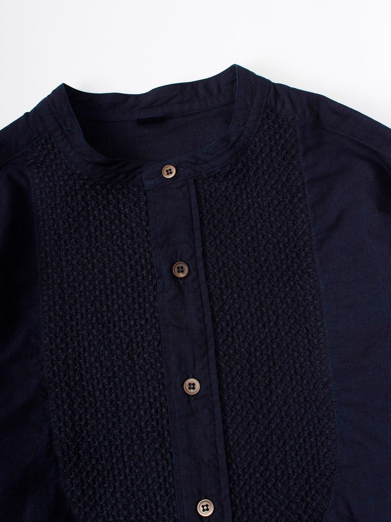 WH Indigo Sheet Cloth Sashiko Shirt-6
