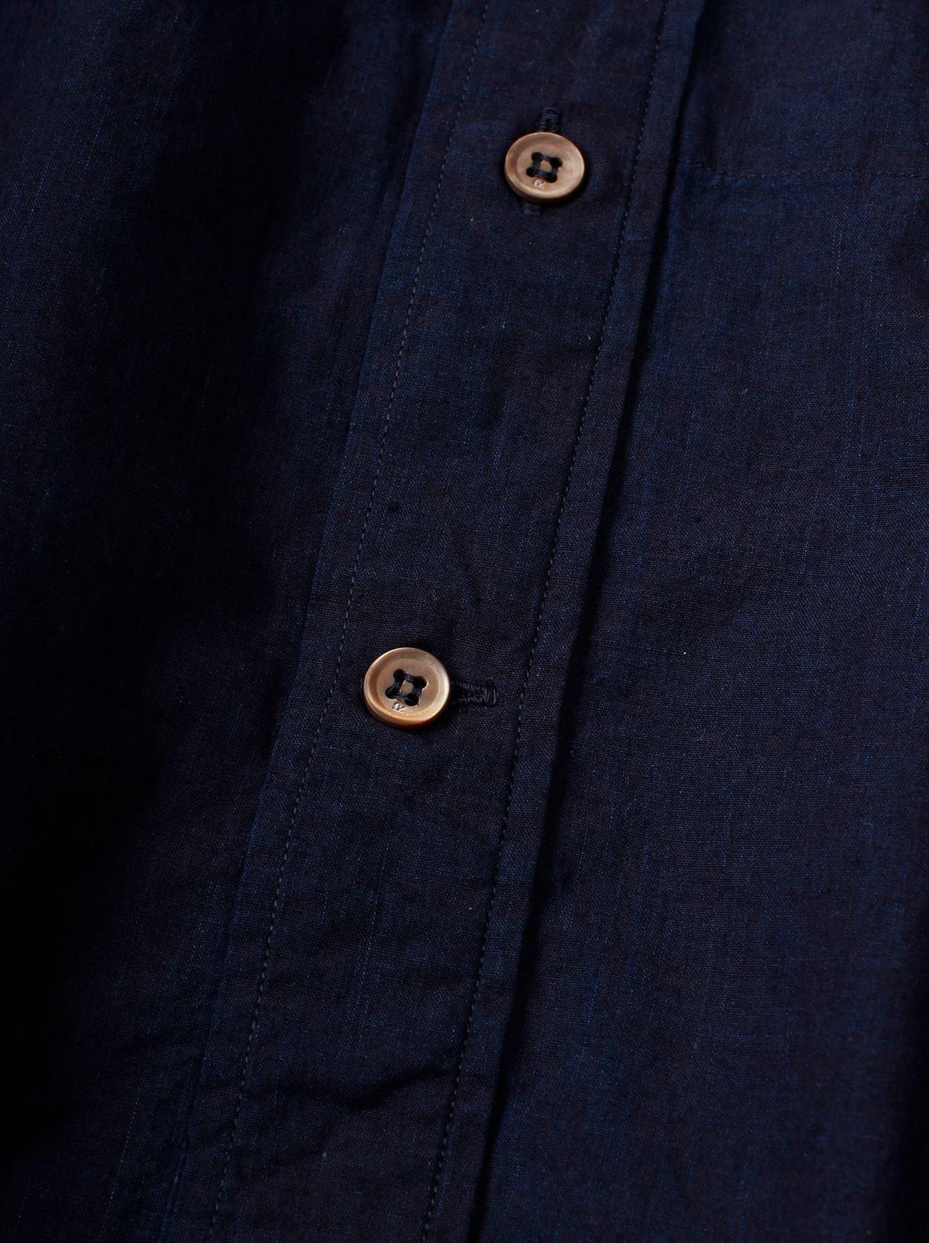 WH Indigo Sheet Cloth Sashiko Shirt-7