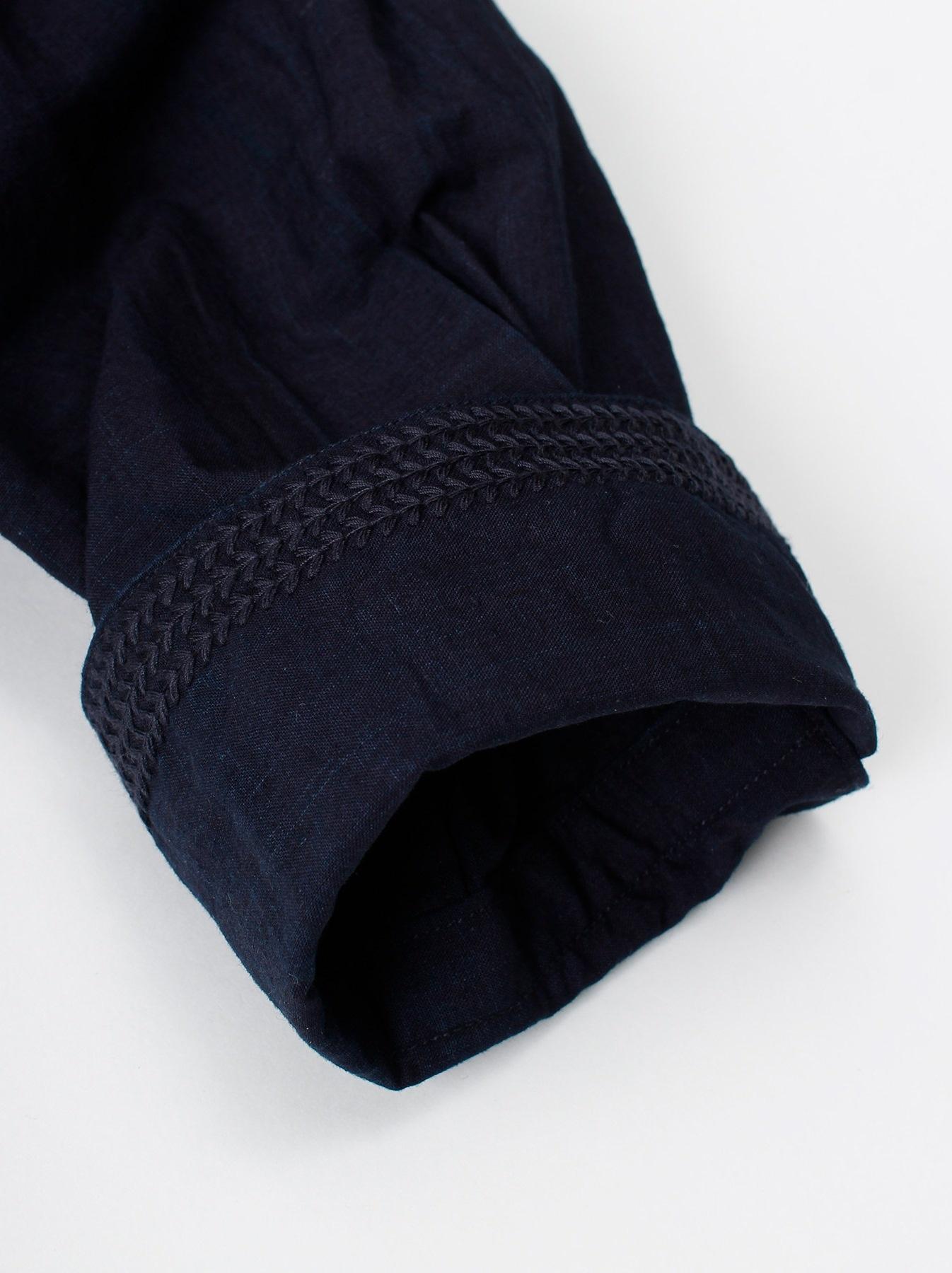 WH Indigo Sheet Cloth Sashiko Shirt-8