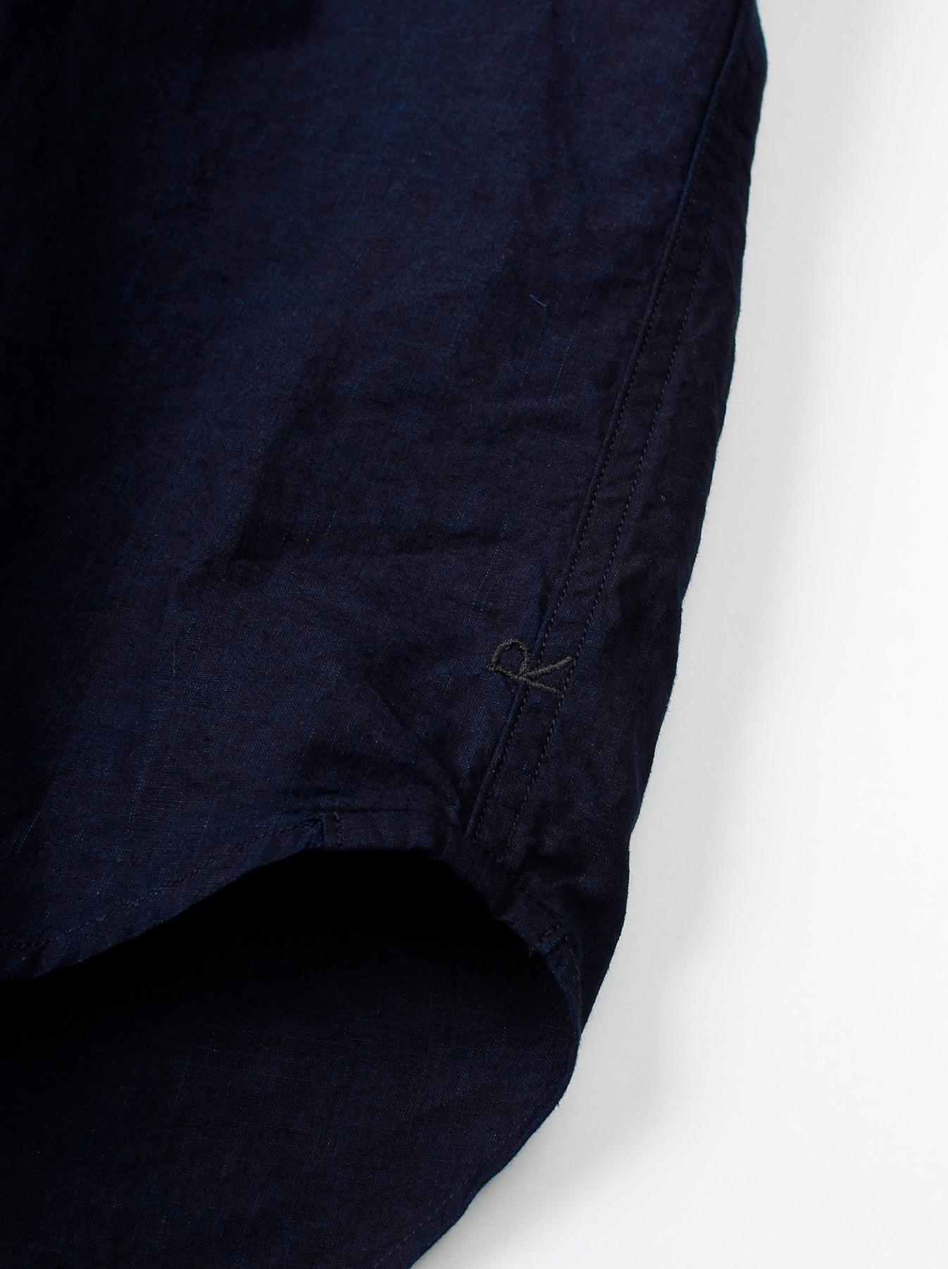 WH Indigo Sheet Cloth Sashiko Shirt-9