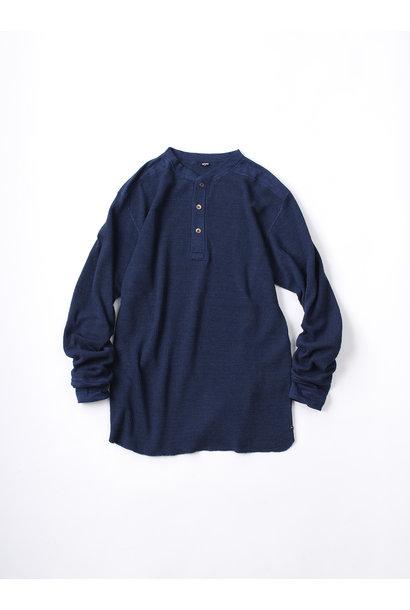 WH Indigo Thin Waffle Henley T-shirt