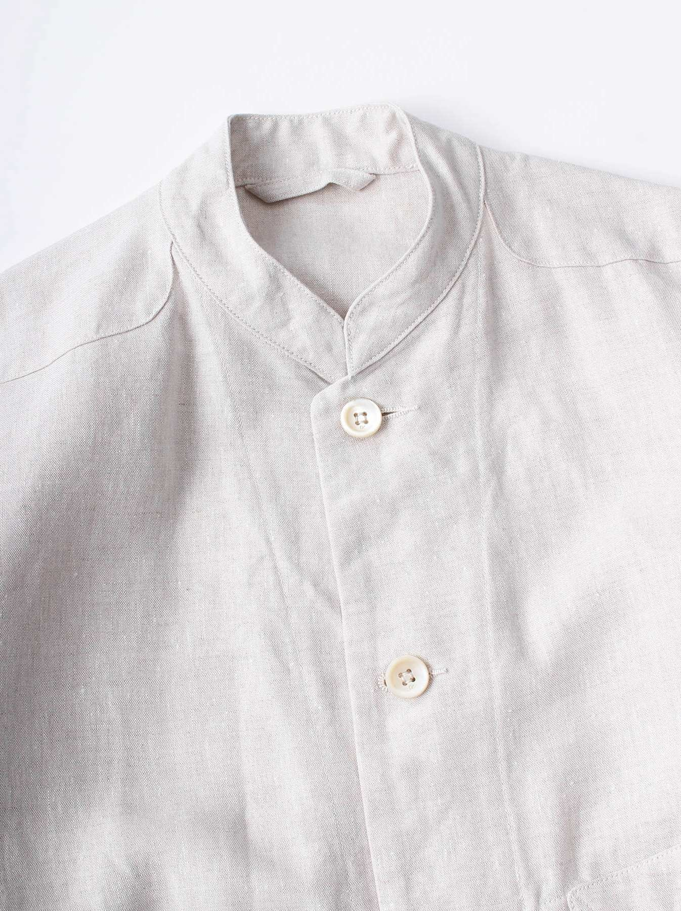 WH Linen Stand Collar Jacket-6