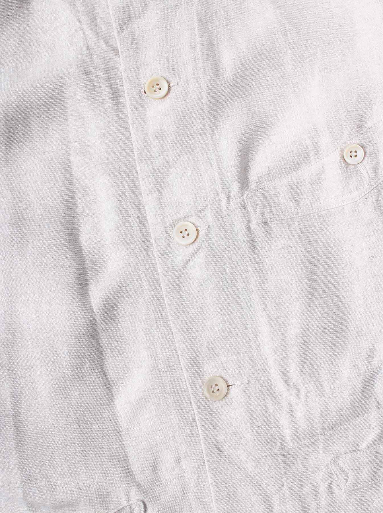 WH Linen Stand Collar Jacket-7
