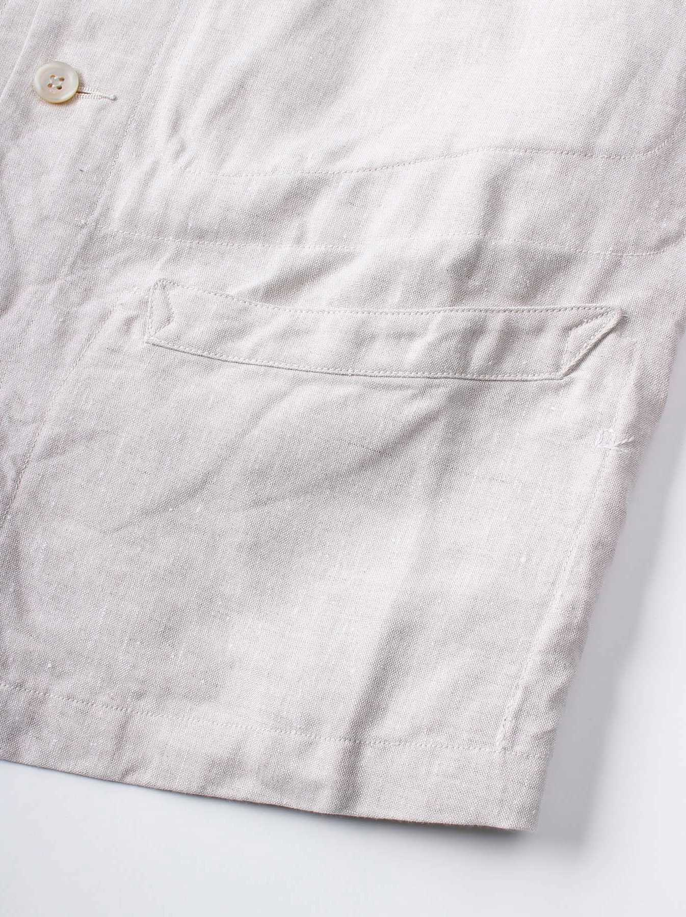 WH Linen Stand Collar Jacket-9