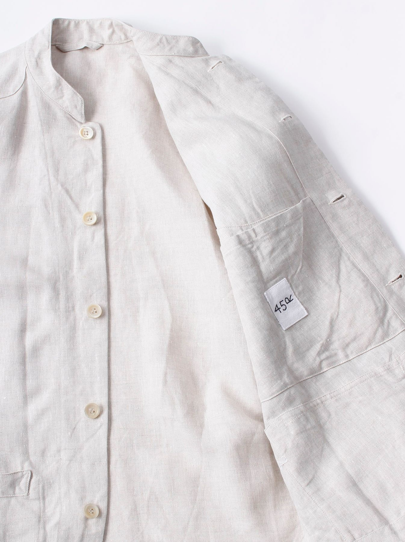 WH Linen Stand Collar Jacket-8