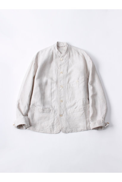 WH Linen Stand Collar Jacket
