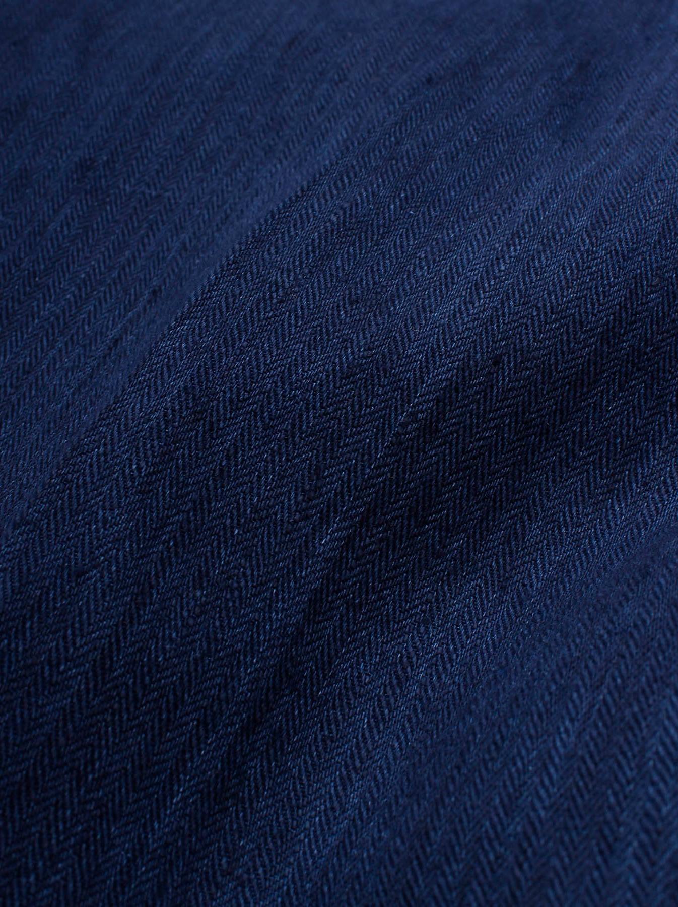 WH Indigo Linen Easy Slacks-10