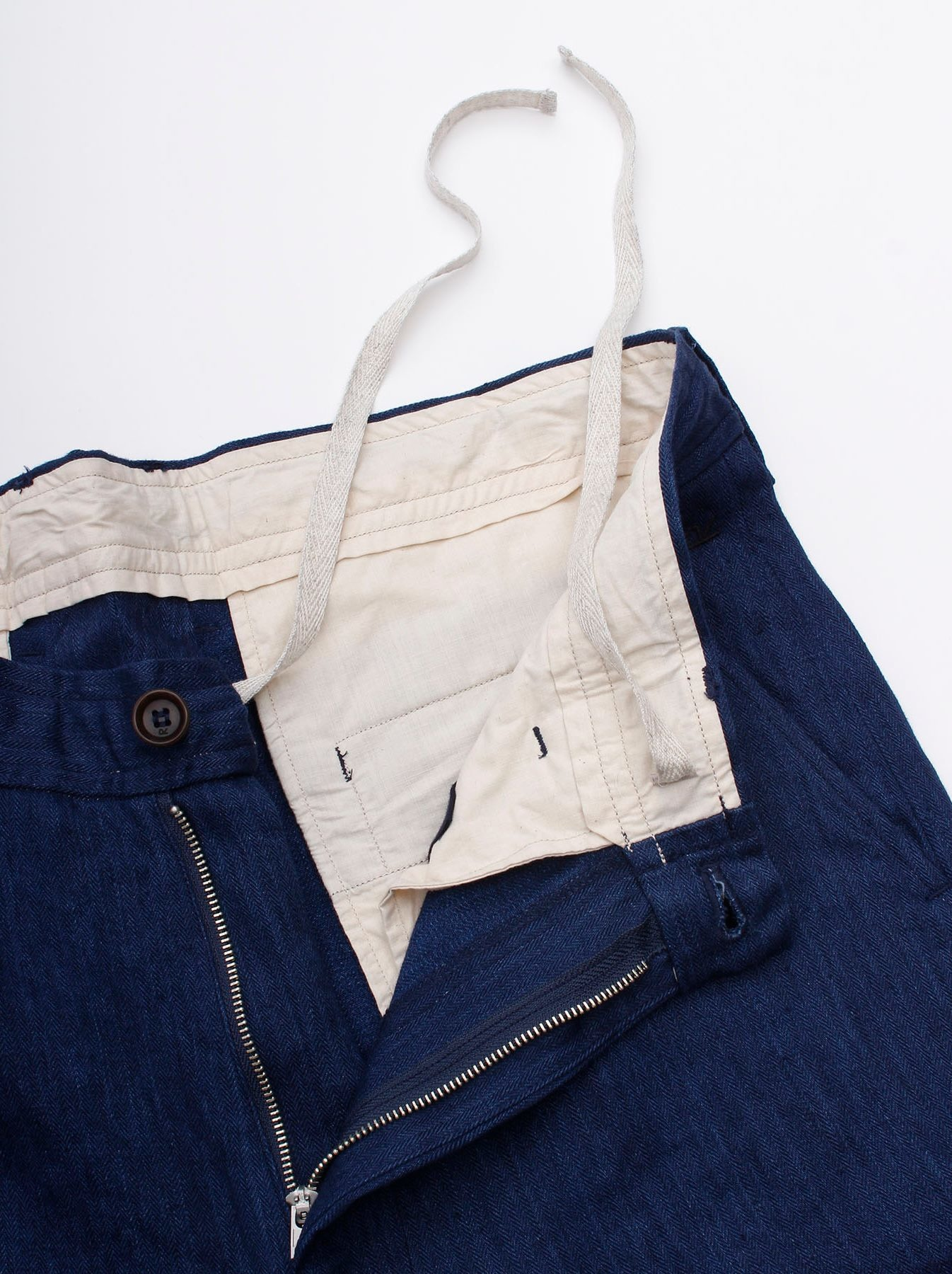 WH Indigo Linen Easy Slacks-6