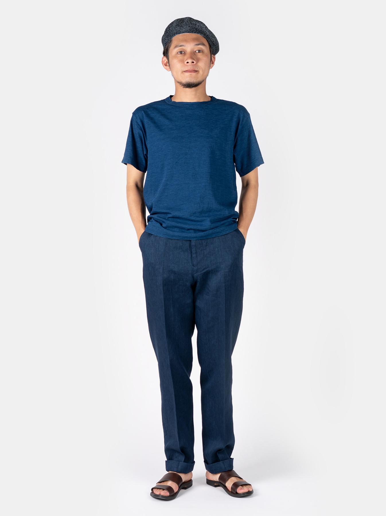 WH Indigo Linen Easy Slacks-2