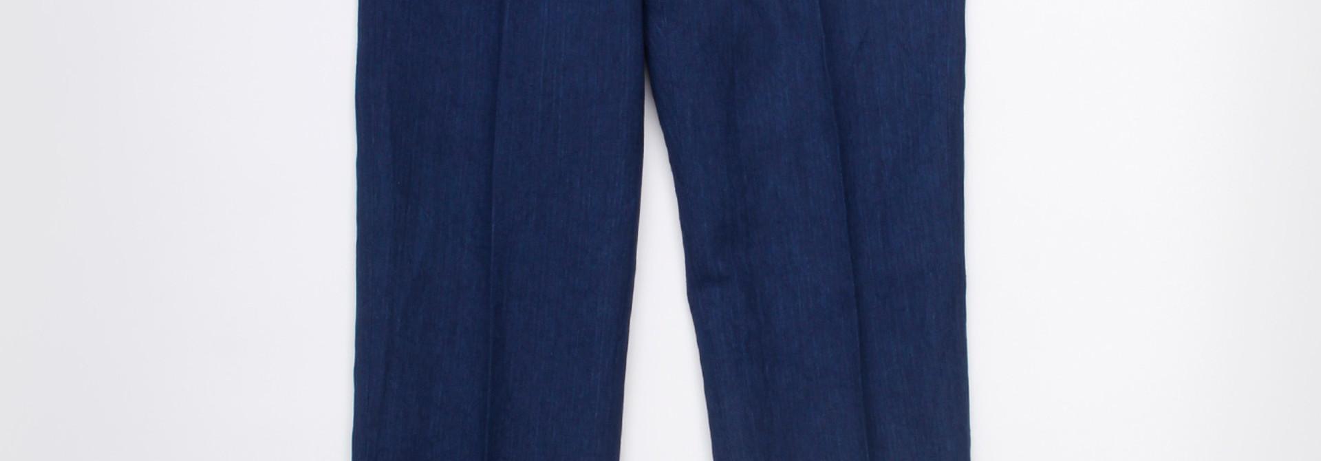 WH Indigo Linen Easy Slacks