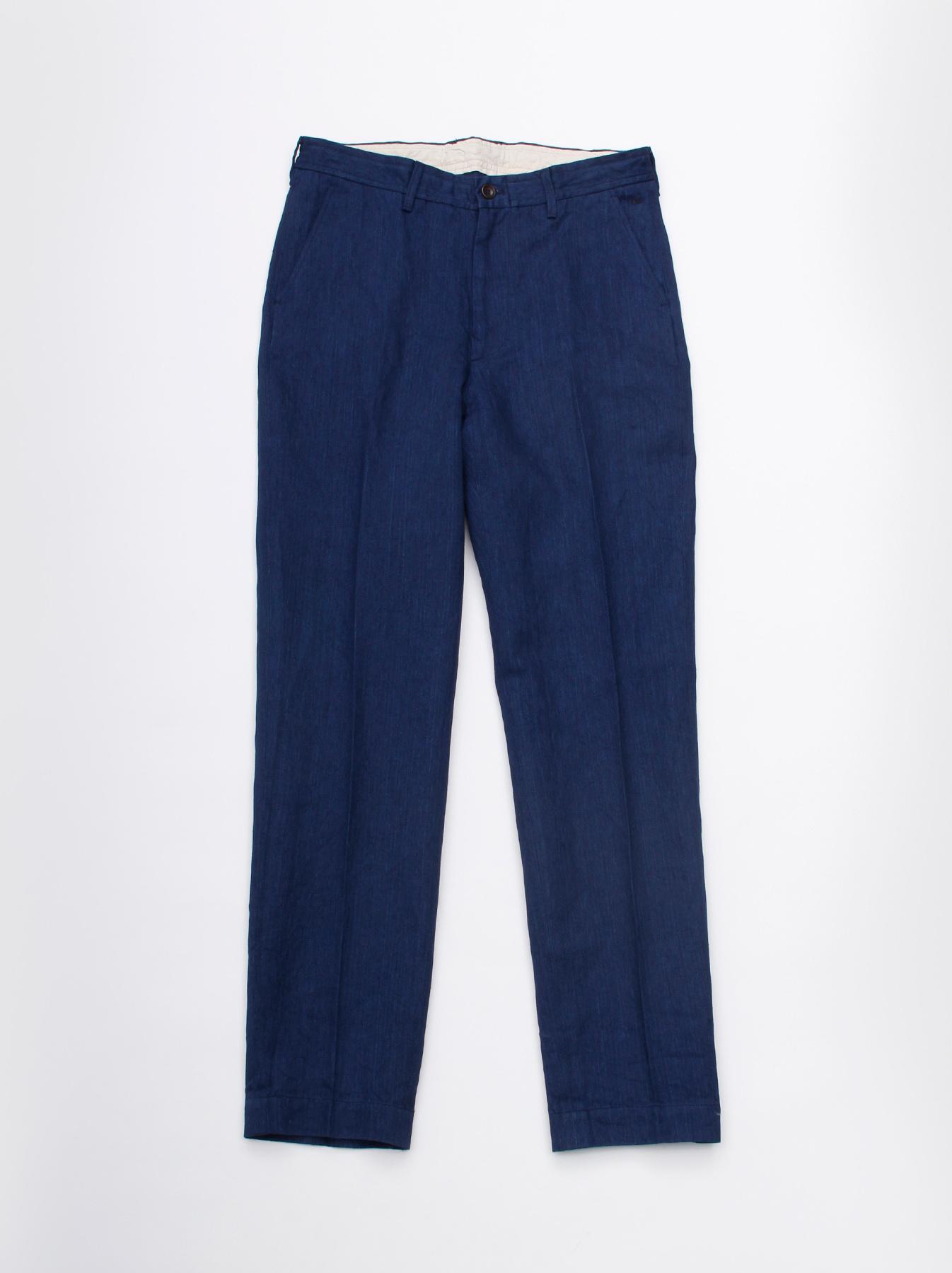 WH Indigo Linen Easy Slacks-1